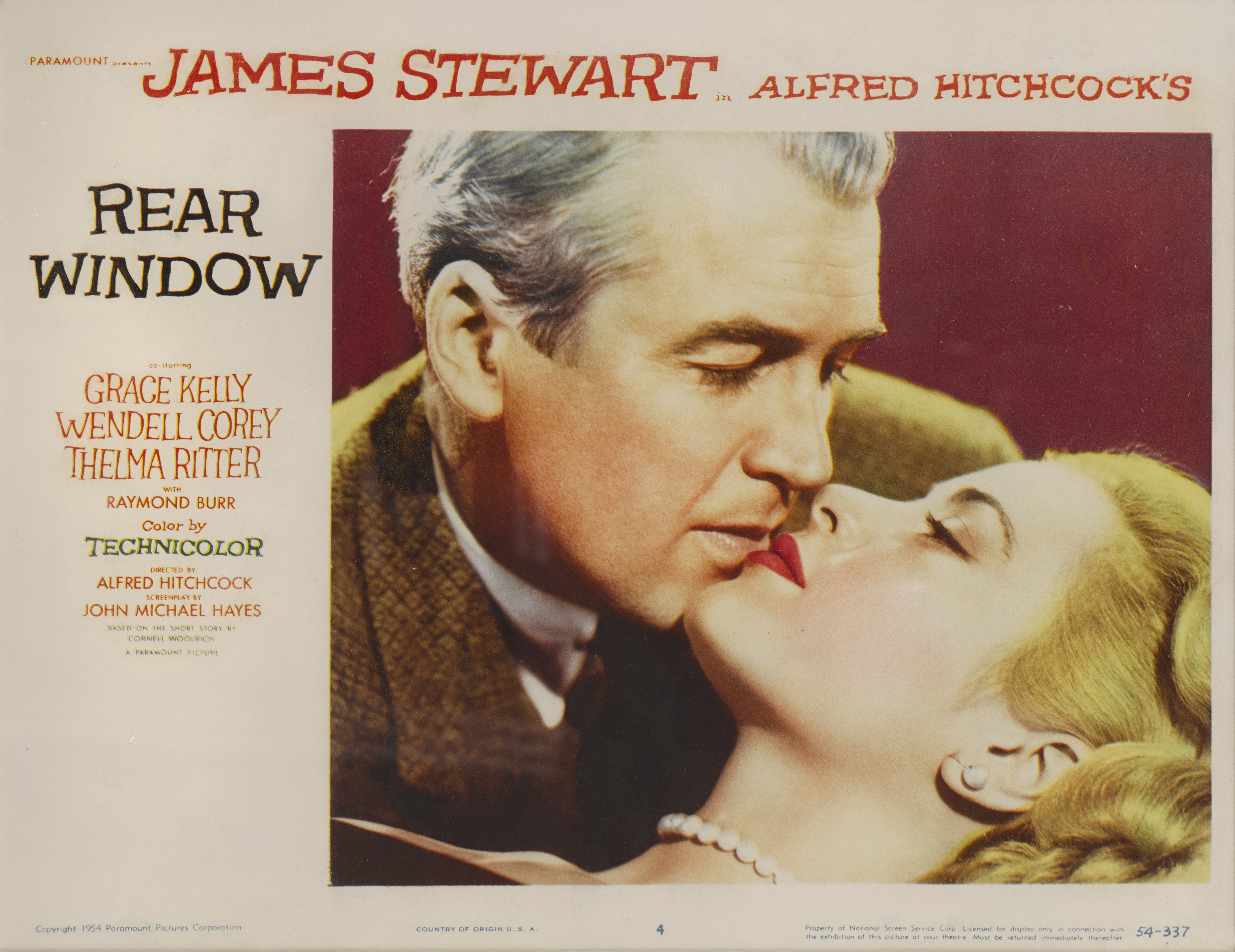 View full screen - View 1 of Lot 58. Rear Window (1954), US, Lobby card .