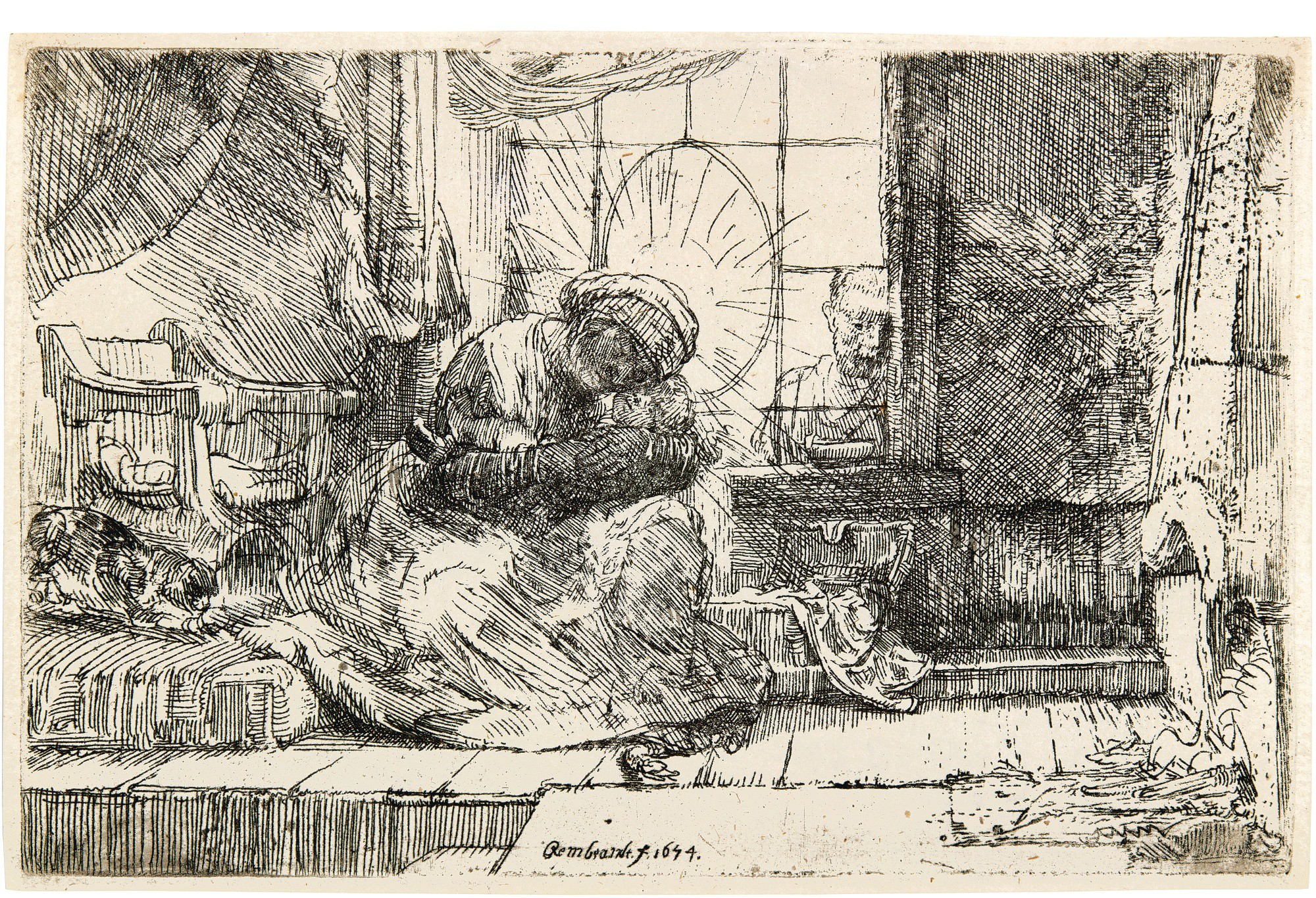 REMBRANDT HARMENSZ. VAN RIJN | THE VIRGIN AND CHILD WITH THE CAT AND THE SNAKE (B., HOLL. 63; NEW HOLL. 278; H. 275)