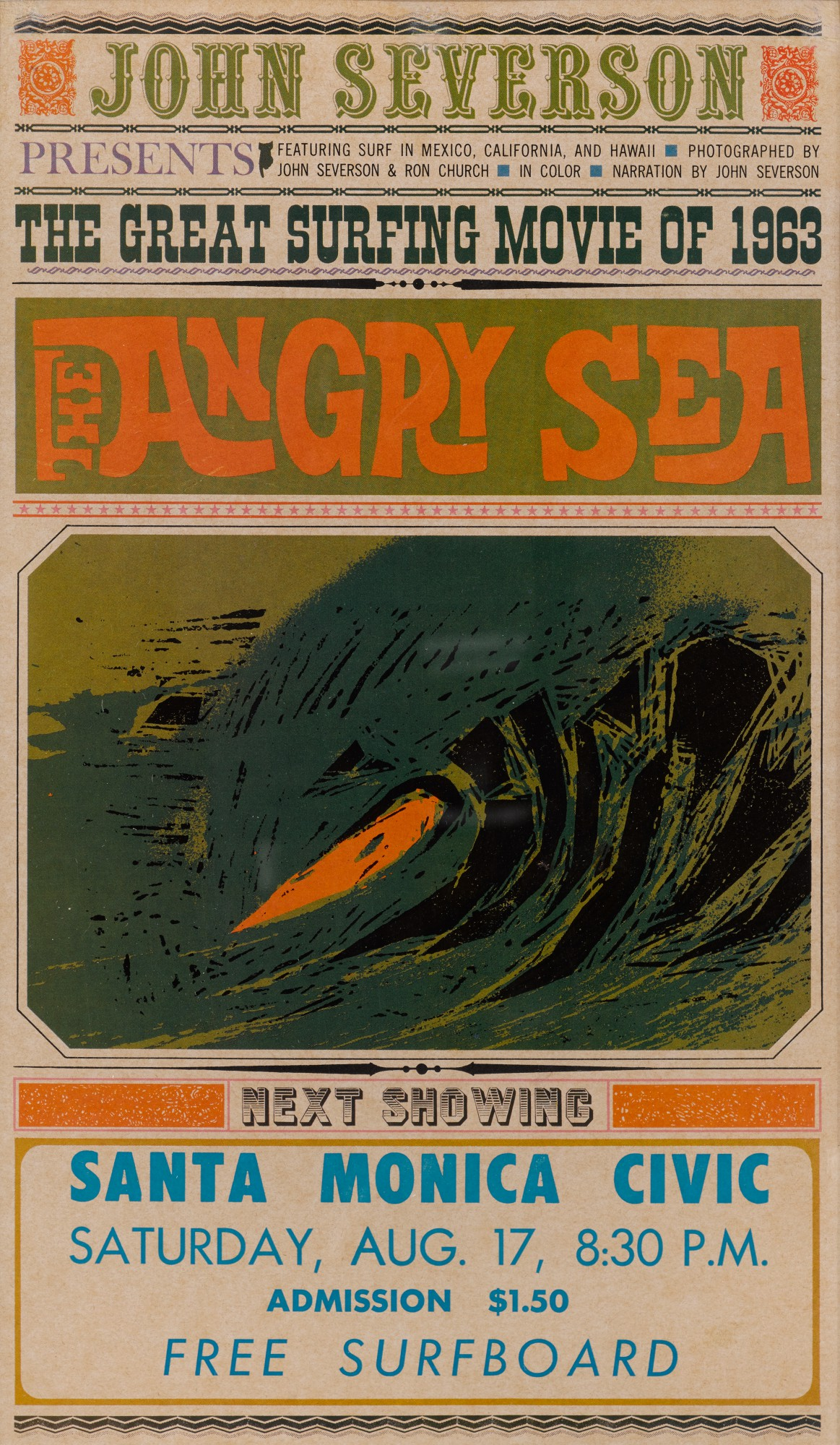 THE ANGRY SEA (1963) POSTER, US