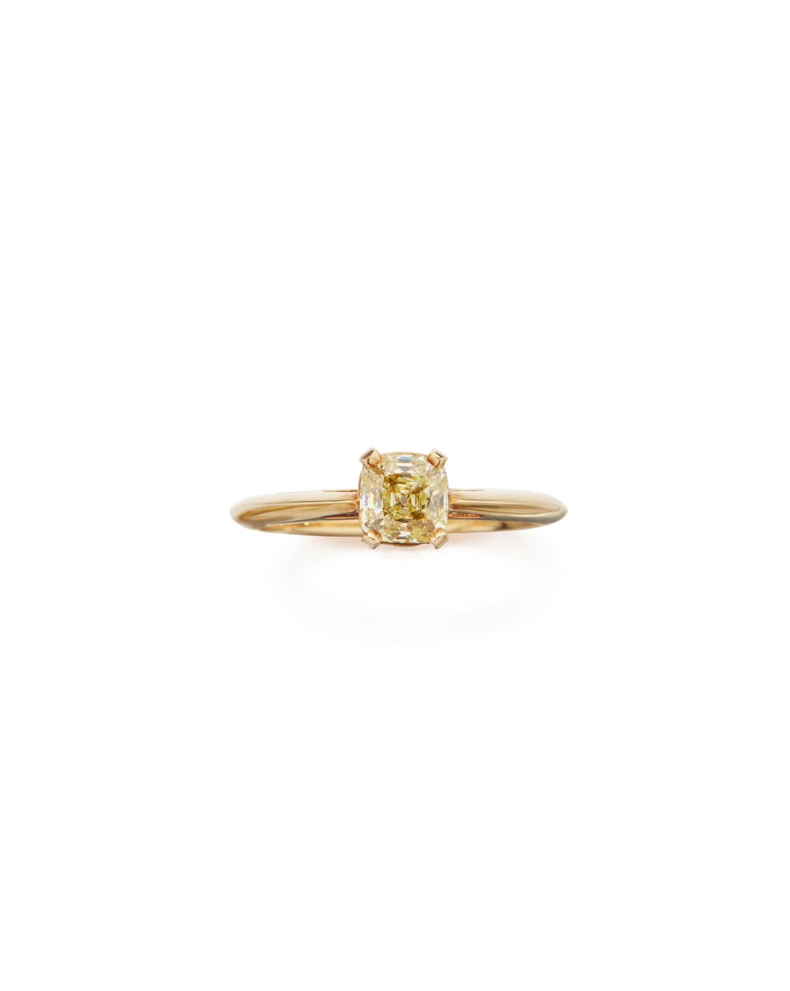 COLORED DIAMOND RING, TIFFANY & CO.