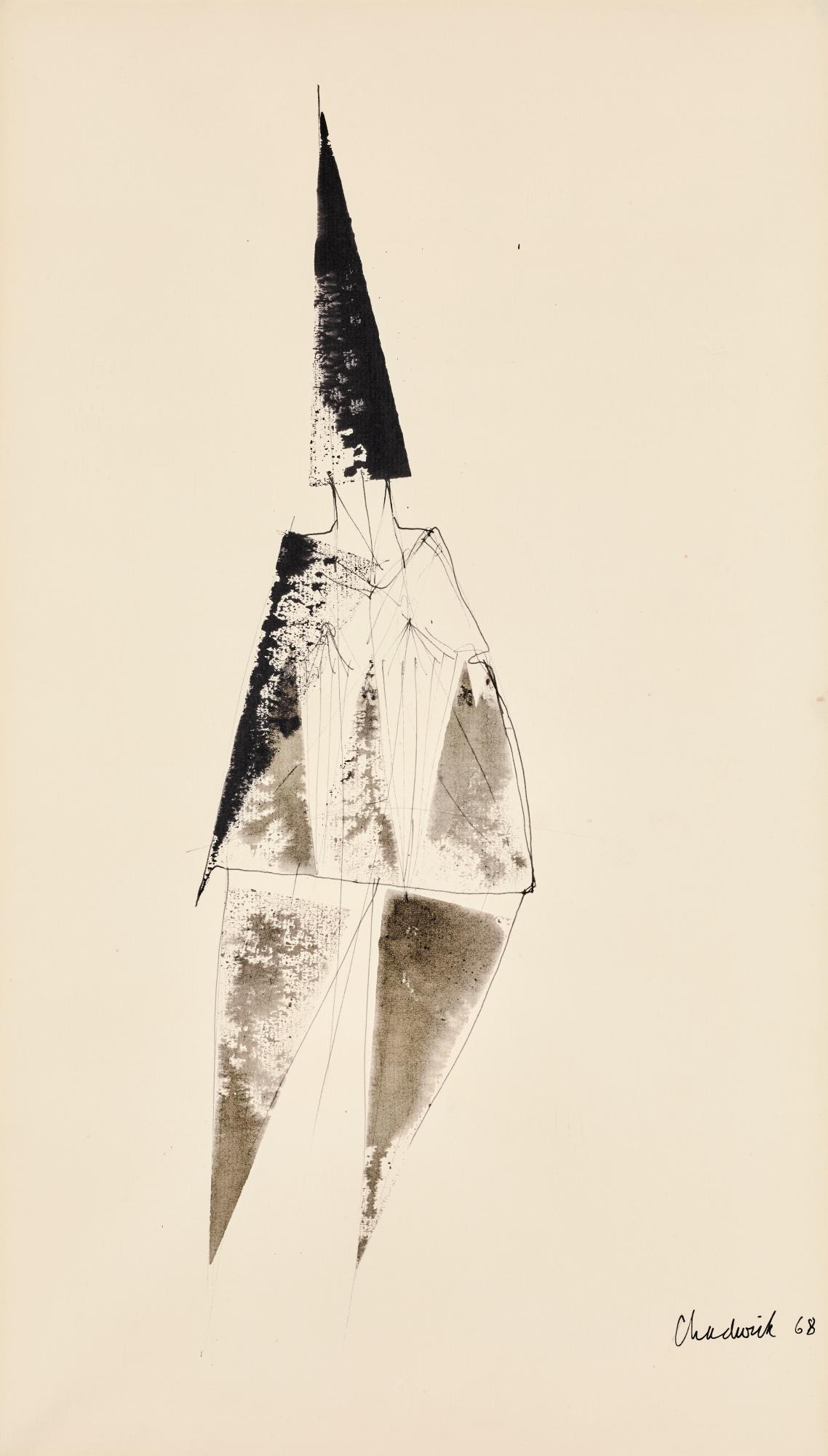 LYNN CHADWICK, R.A.   ELONGATED FIGURE