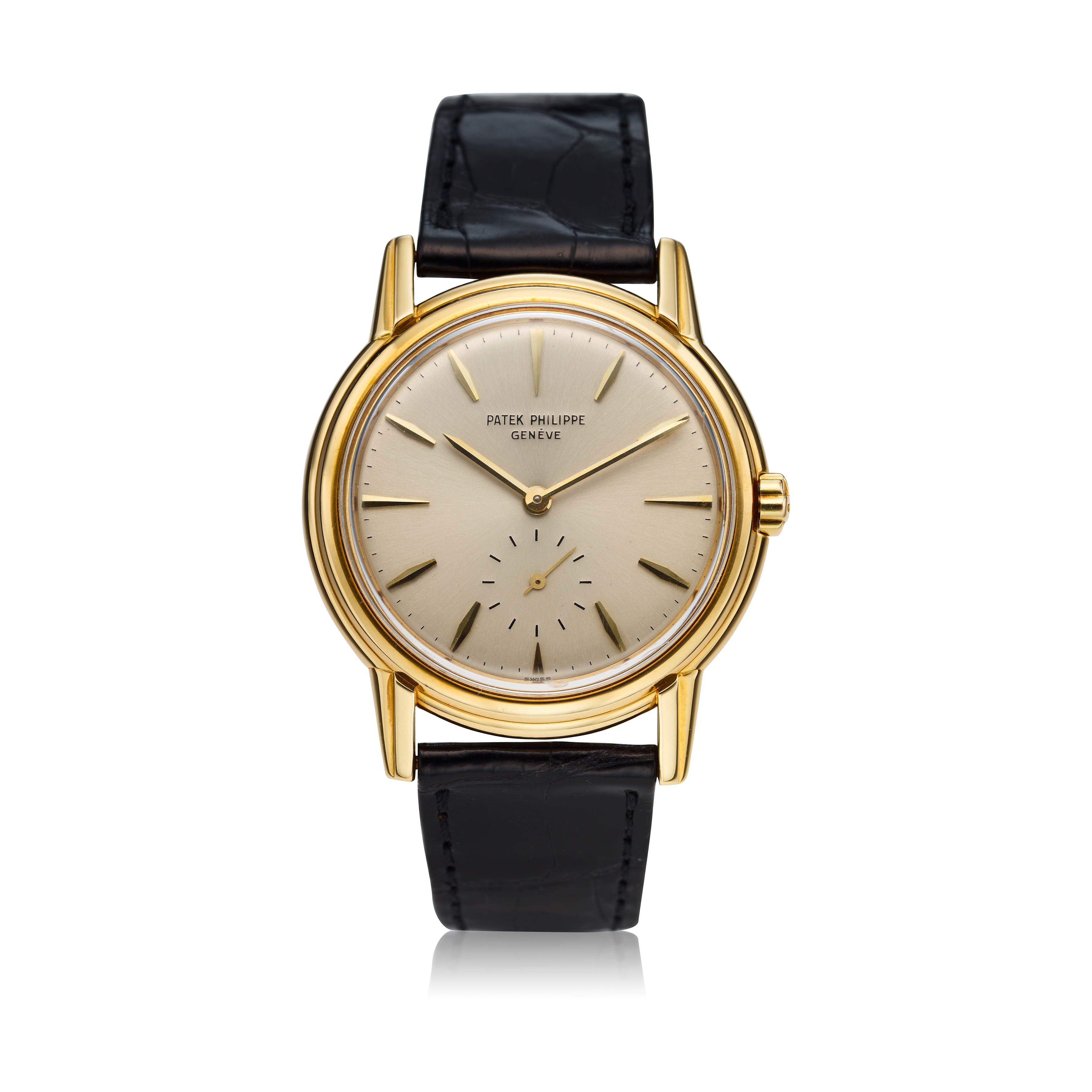 View full screen - View 1 of Lot 230. Reference 3444  A yellow gold automatic wristwatch, Circa 1961 .