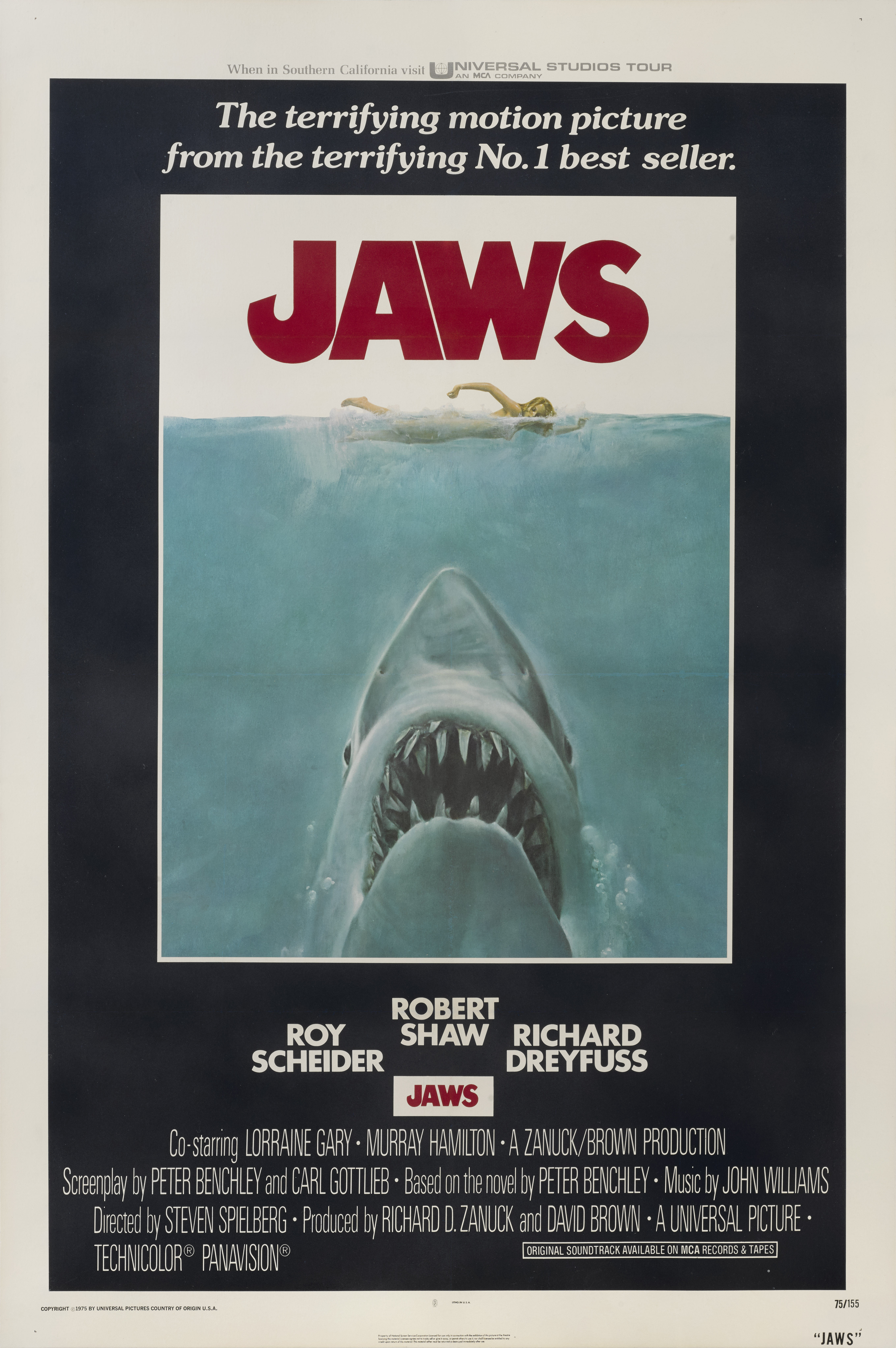View full screen - View 1 of Lot 163. Jaws (1975) Poster, US.