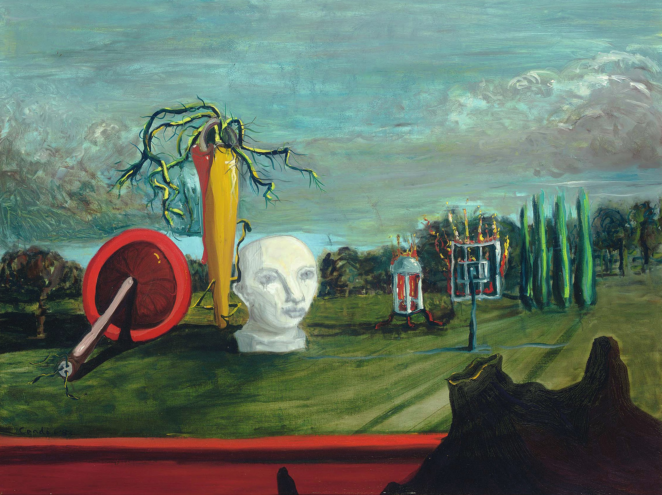 View full screen - View 1 of Lot 224. Surrealist Landscape.