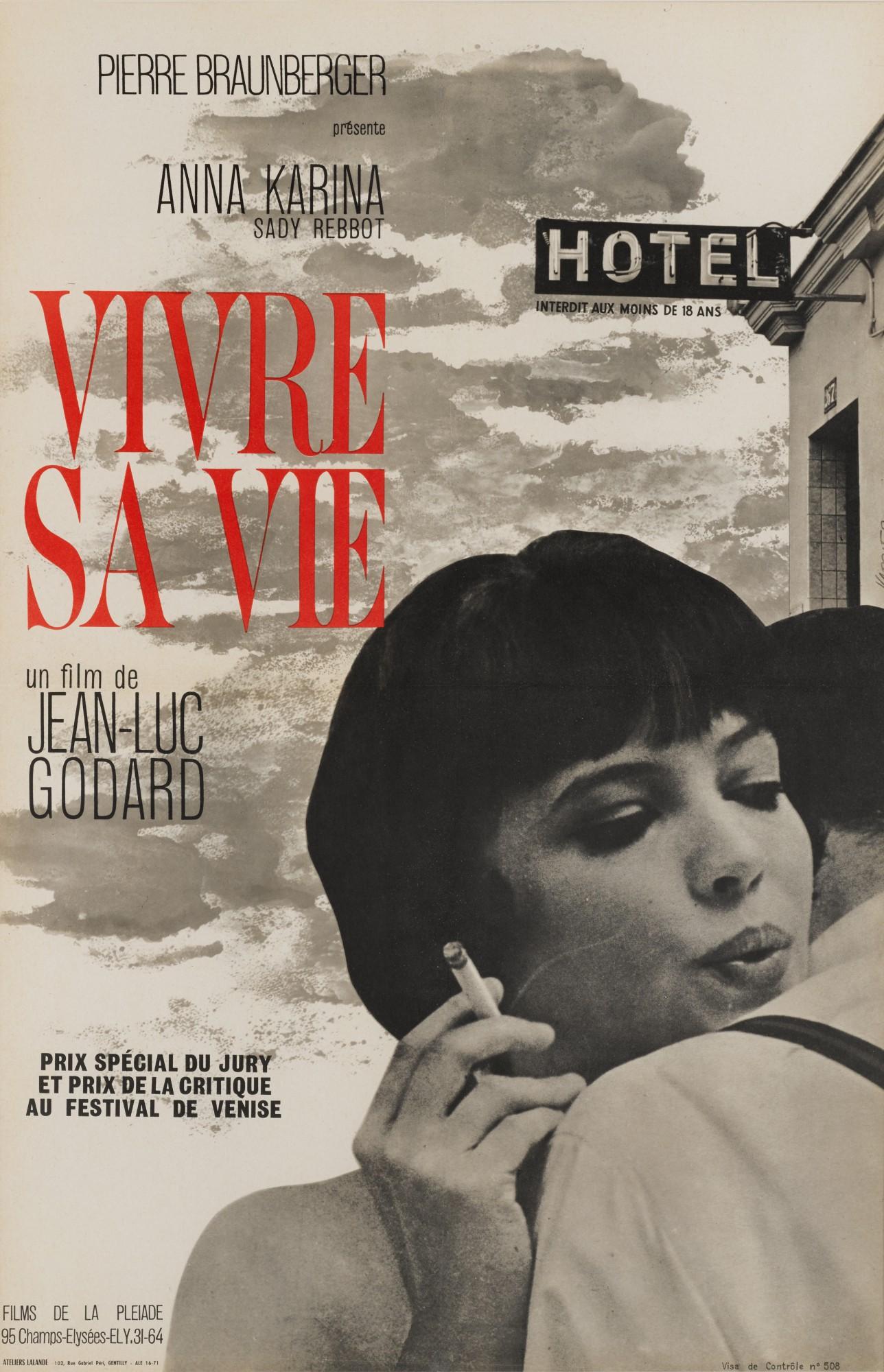VIVRE SA VIE (1962) POSTER, FRENCH