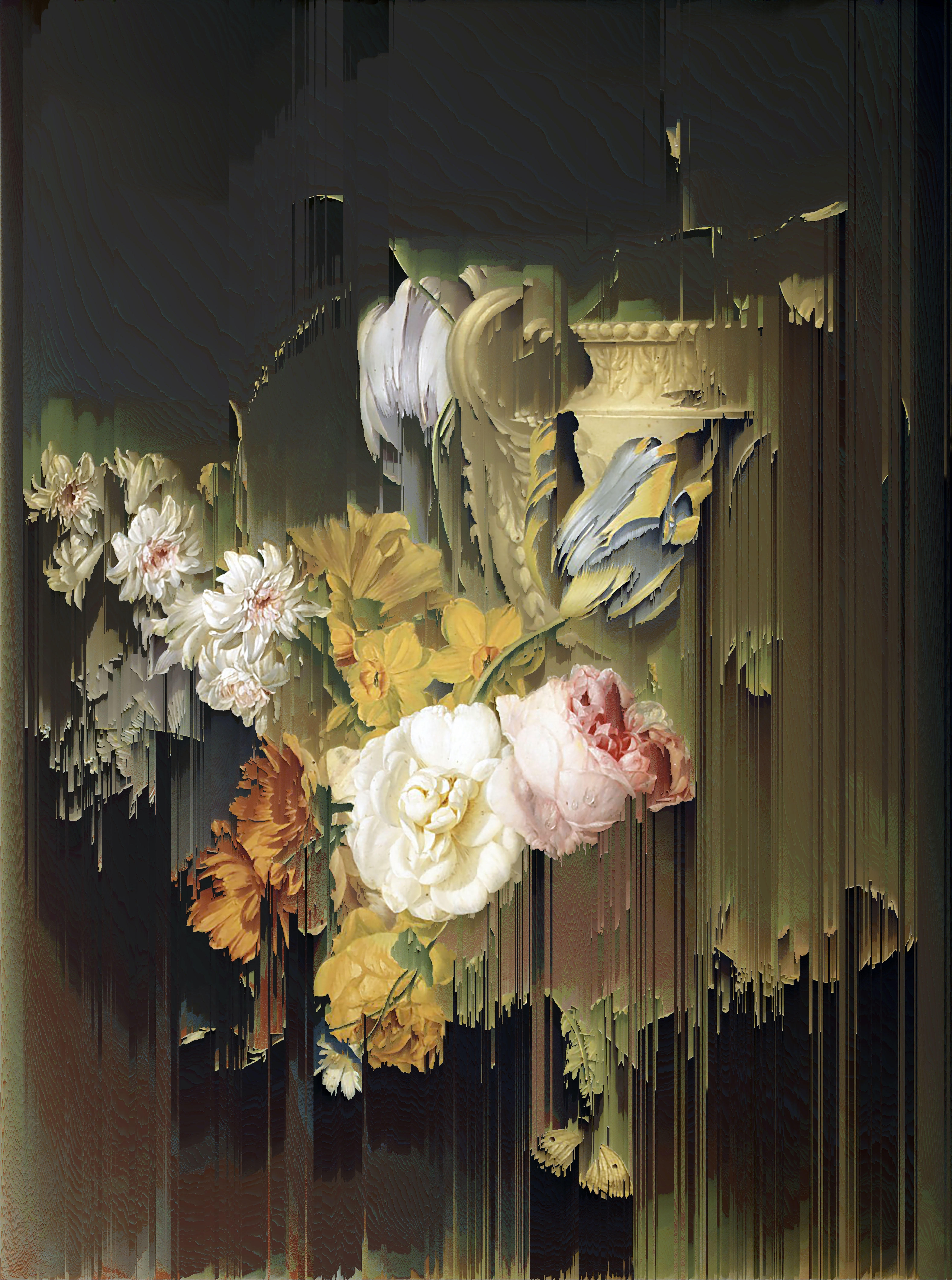 View full screen - View 1 of Lot 54. New Order Flowers by a Stone Vase (after Peter Faes, 1786).