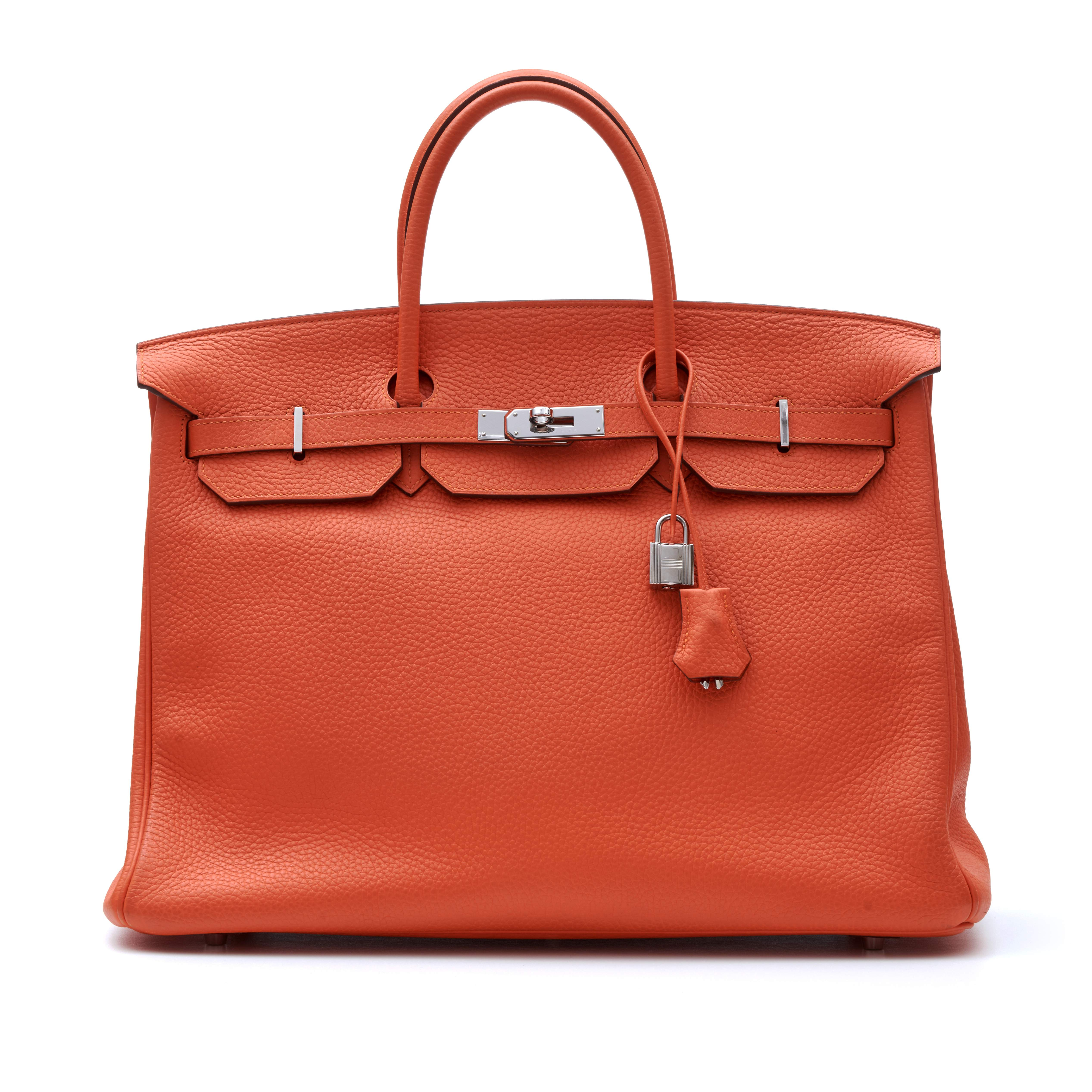 View full screen - View 1 of Lot 313. Feu Birkin 40cm in Taurillion Clemence Leather with Palladium Hardware, 2014.