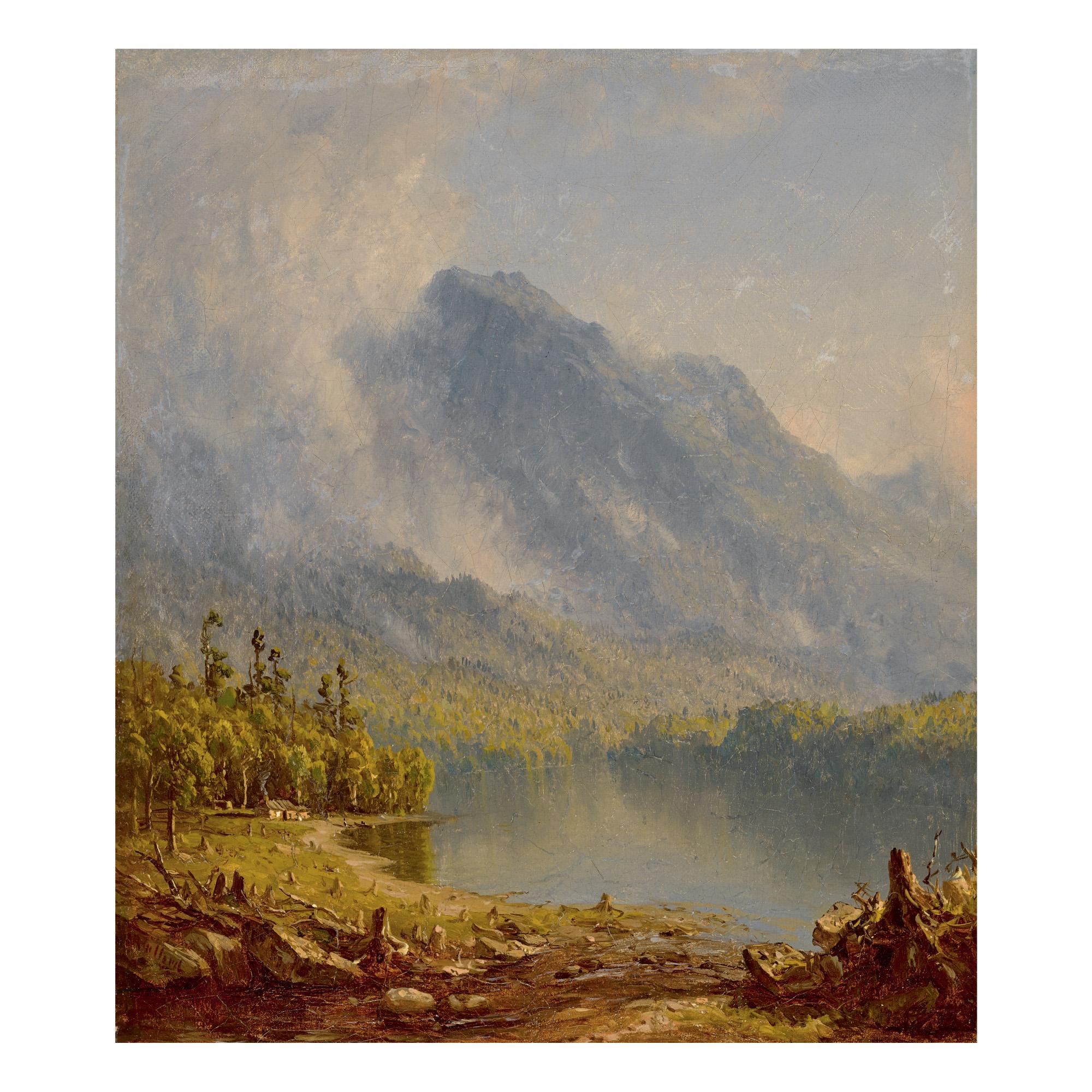 SANFORD ROBINSON GIFFORD | STUDY FOR 'MORNING IN THE ADIRONDACKS, 1867'