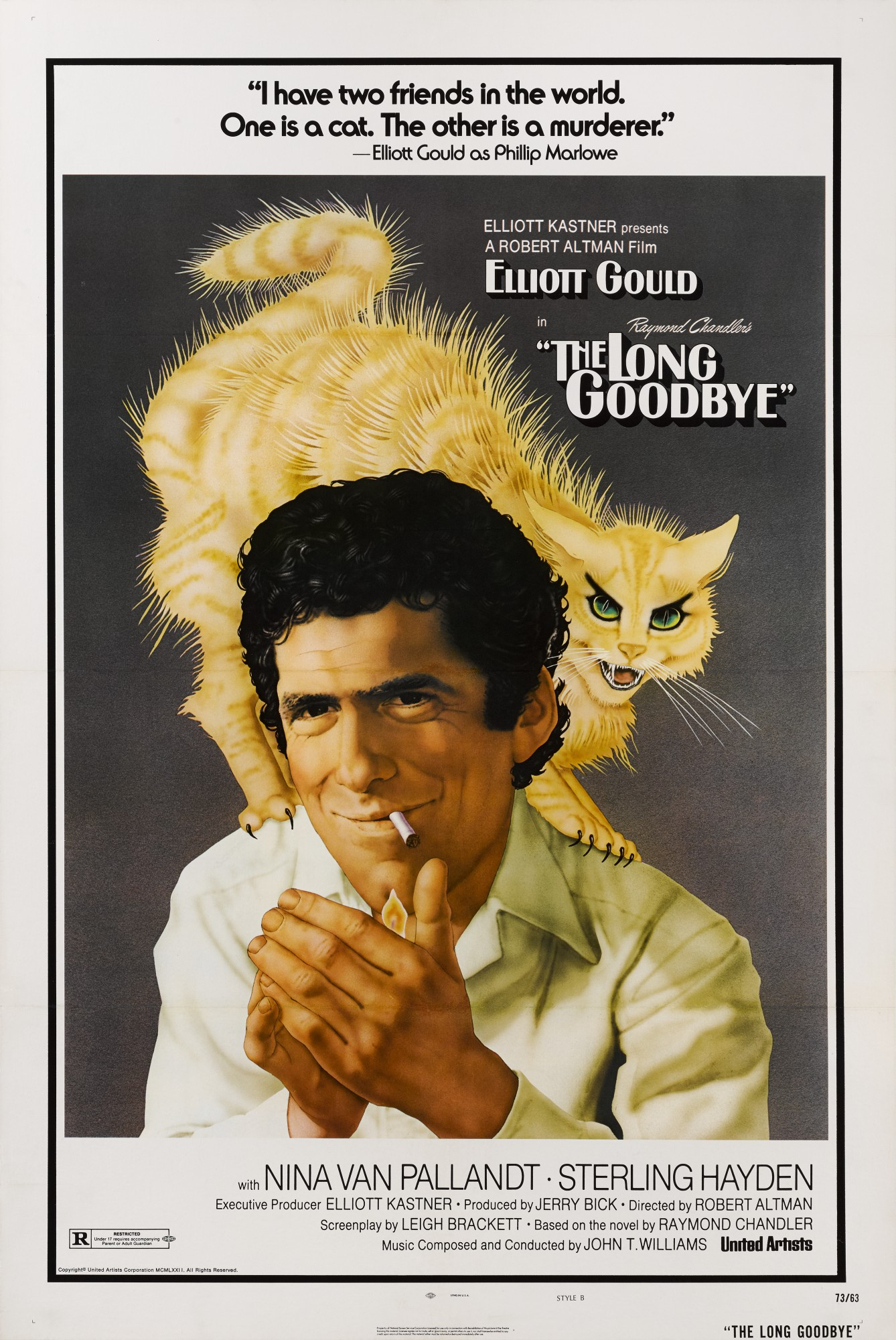 THE LONG GOODBYE (1973) POSTER, US