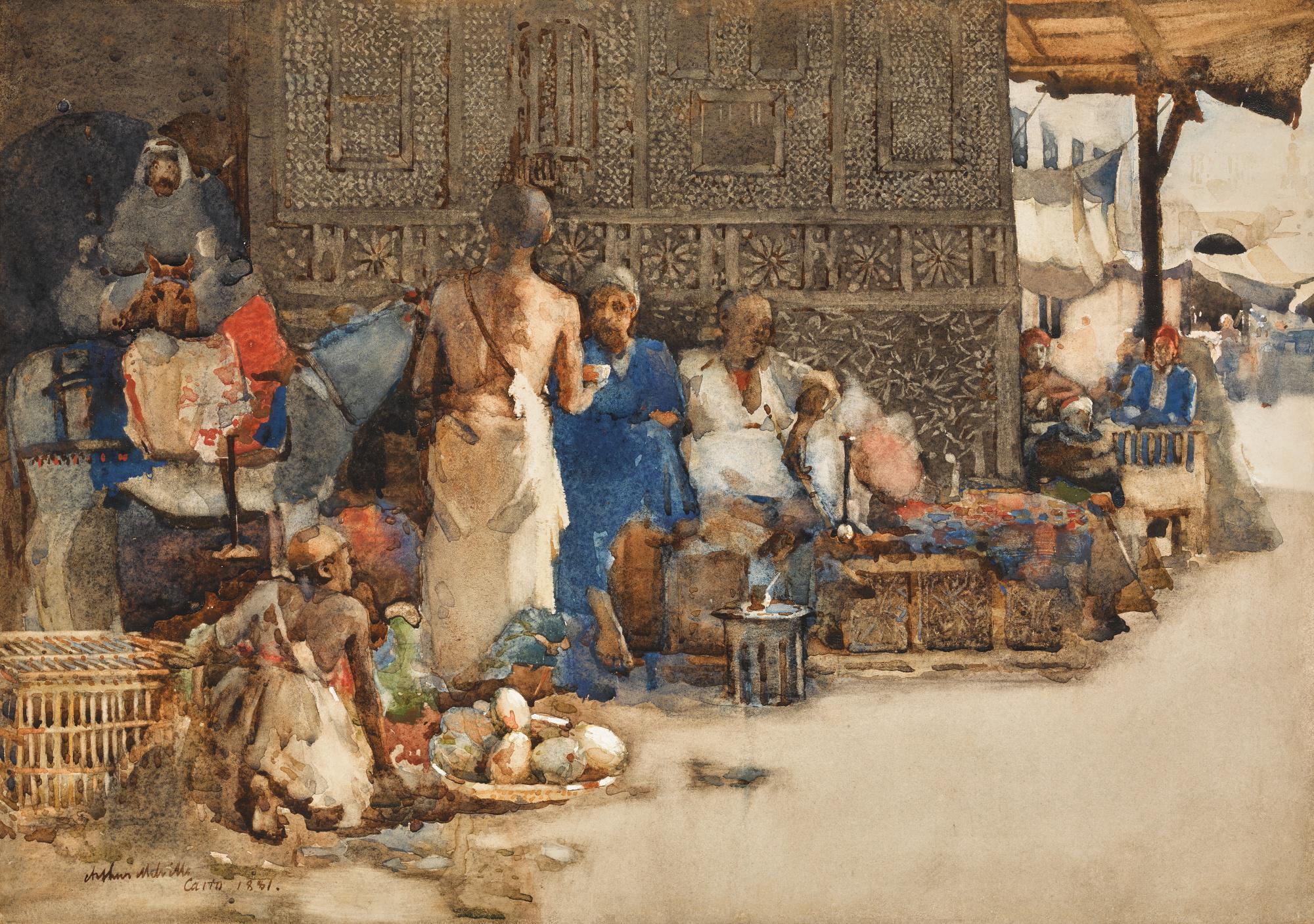 ARTHUR MELVILLE, A.R.S.A., R.S.W. A.R.S. | A CAIRO COFFEE STALL
