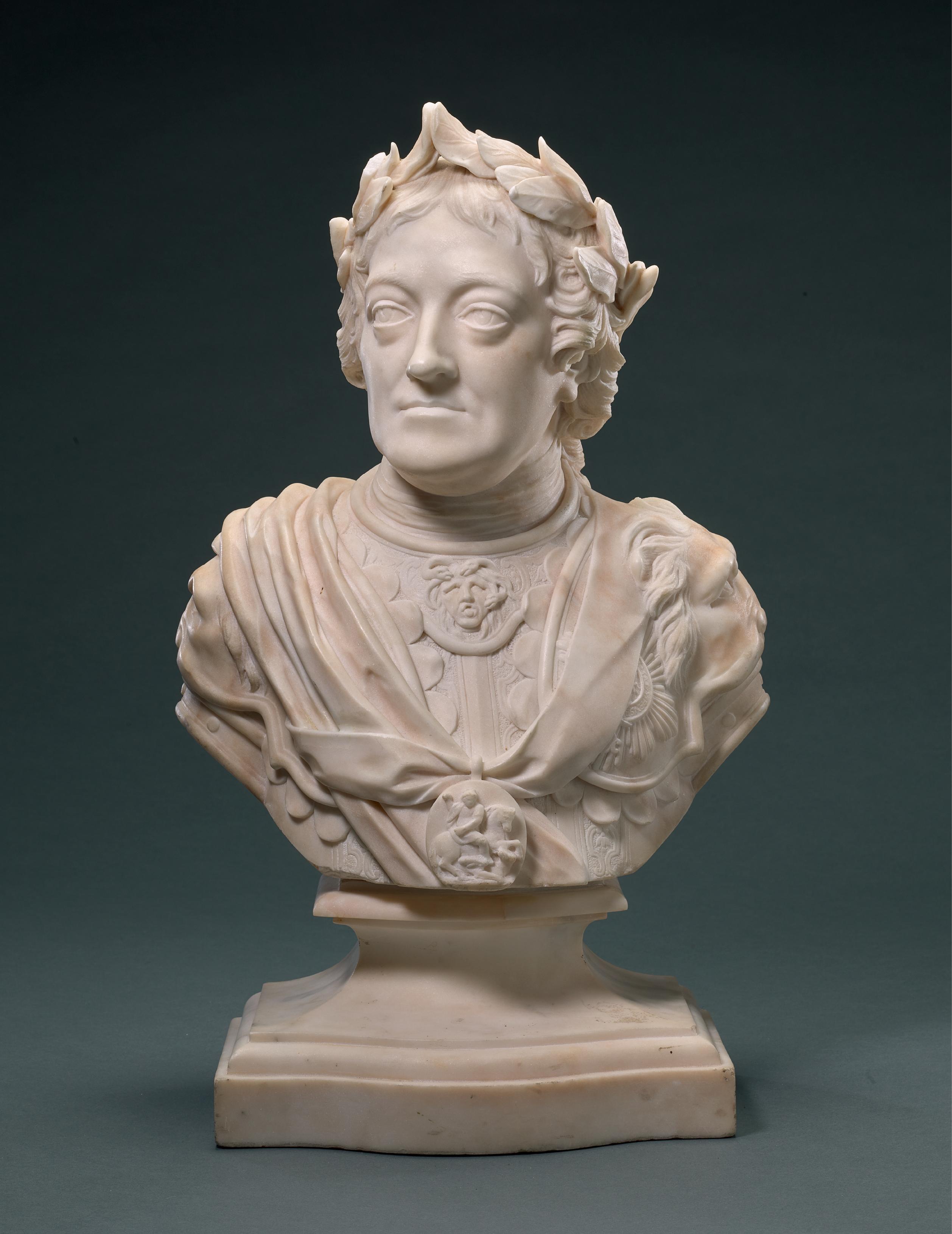 WORKSHOP OF MICHAEL RYSBRACK (1694-1770), BRITISH, 18TH CENTURY | BUST OF KING GEORGE II (1638-1760)