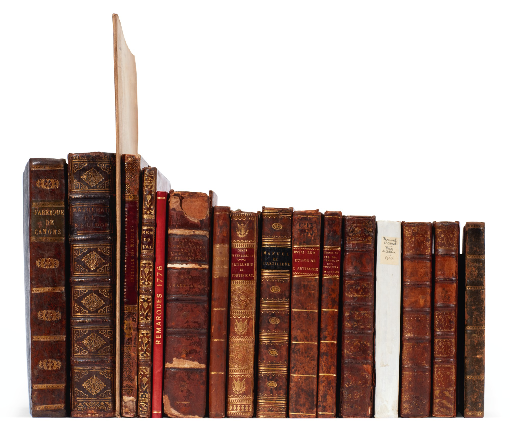 Artillery, French, 18 volumes, 18th and 19th century