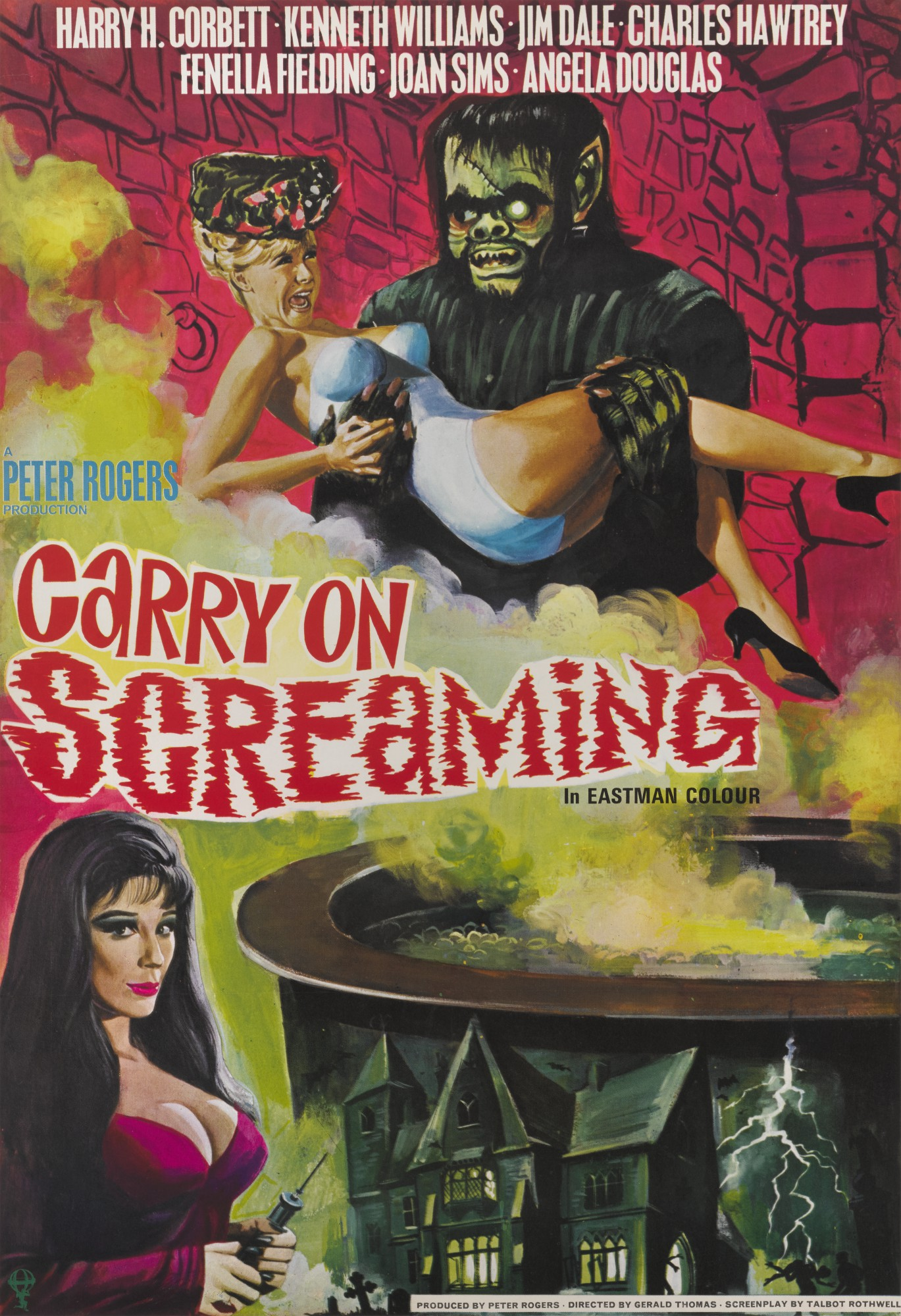 CARRY ON SCREAMING (1966) POSTER, BRITISH