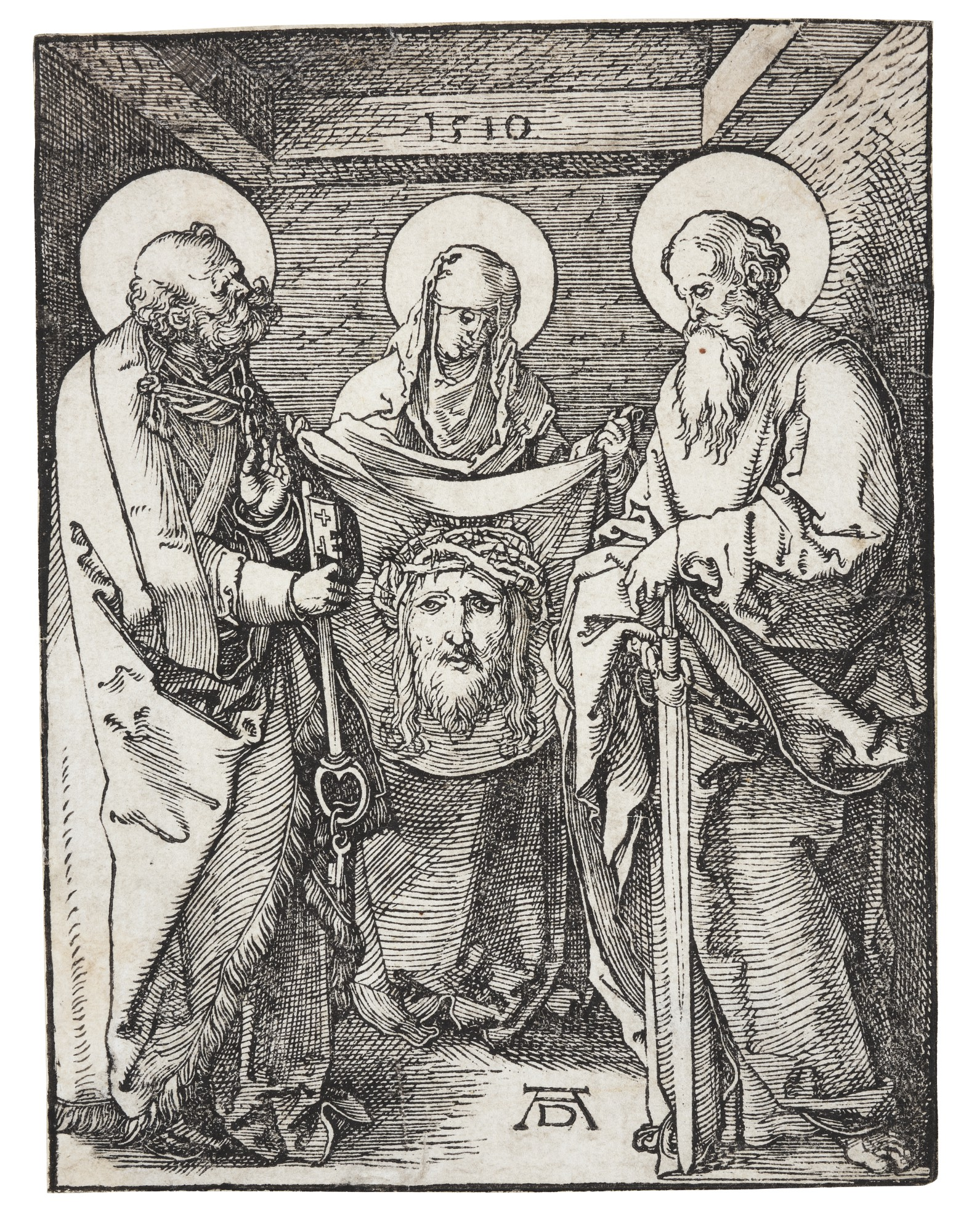 ALBRECHT DÜRER | ST. VERONICA BETWEEN ST. PETER AND ST. PAUL; AND CHRIST IN EMMAUS (B. 38, 48; M., HOLL. 147, 157)