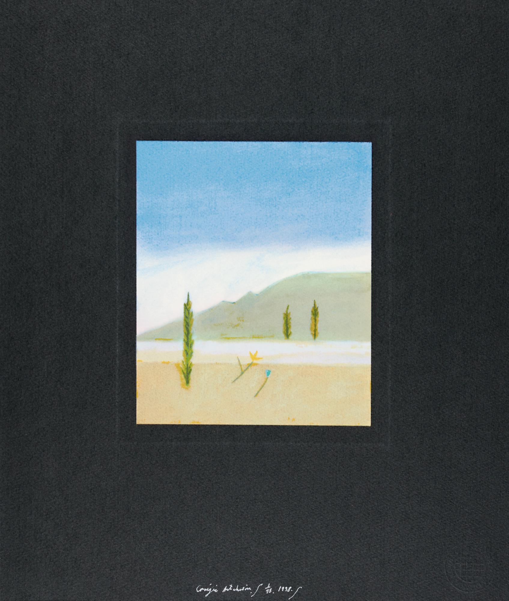 CRAIGIE AITCHISON, R.A. | CYPRESS TREES AT OPPEDETTE