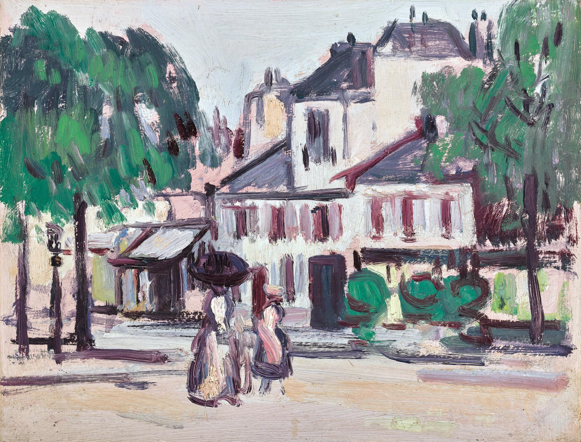 JOHN DUNCAN FERGUSSON, R.B.A. | FAUBOURG ST JACQUES, PARIS