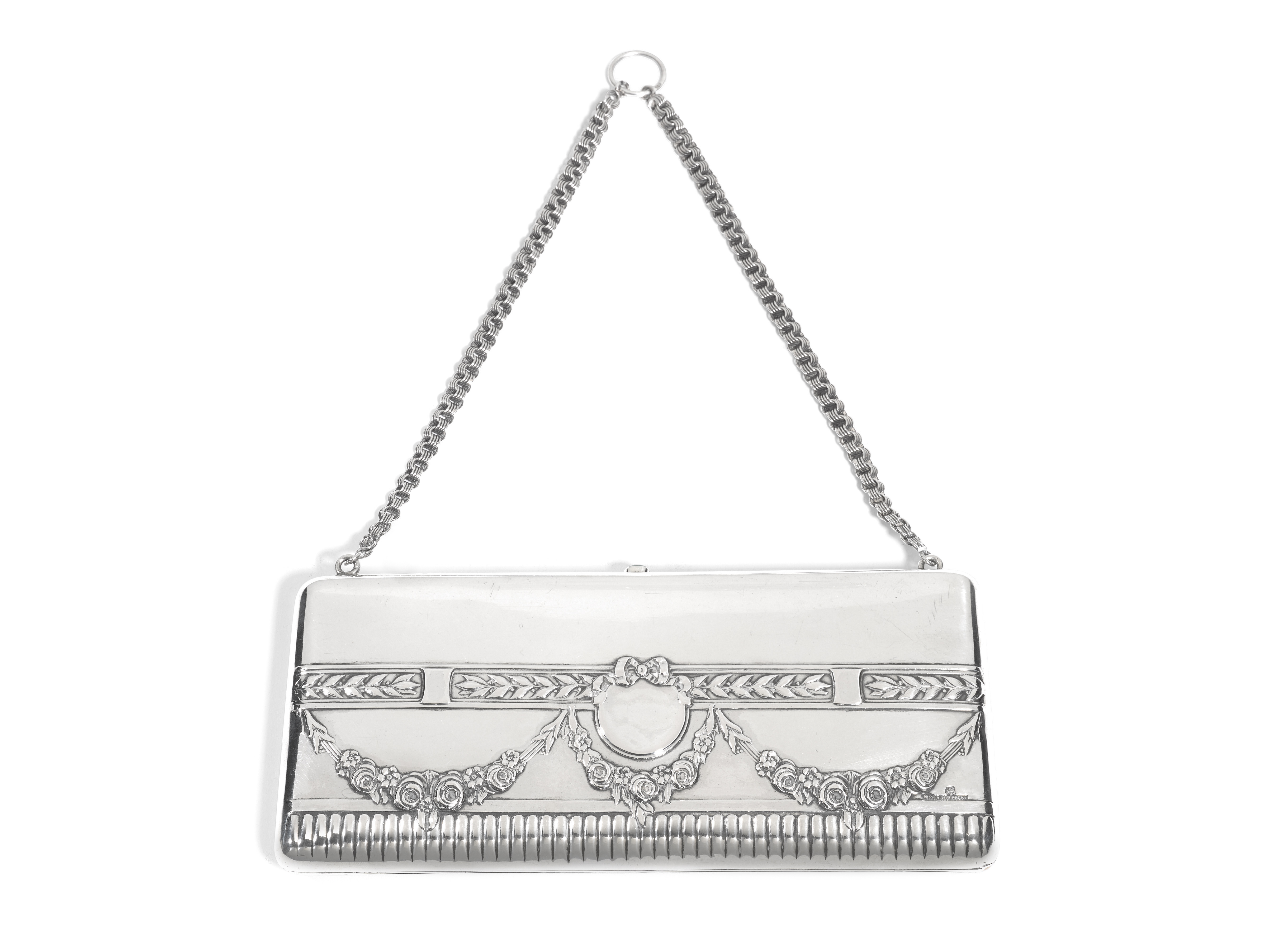 View full screen - View 1 of Lot 218. A silver evening bag, Ivan Khlebnikov, Moscow, 1908-1917.
