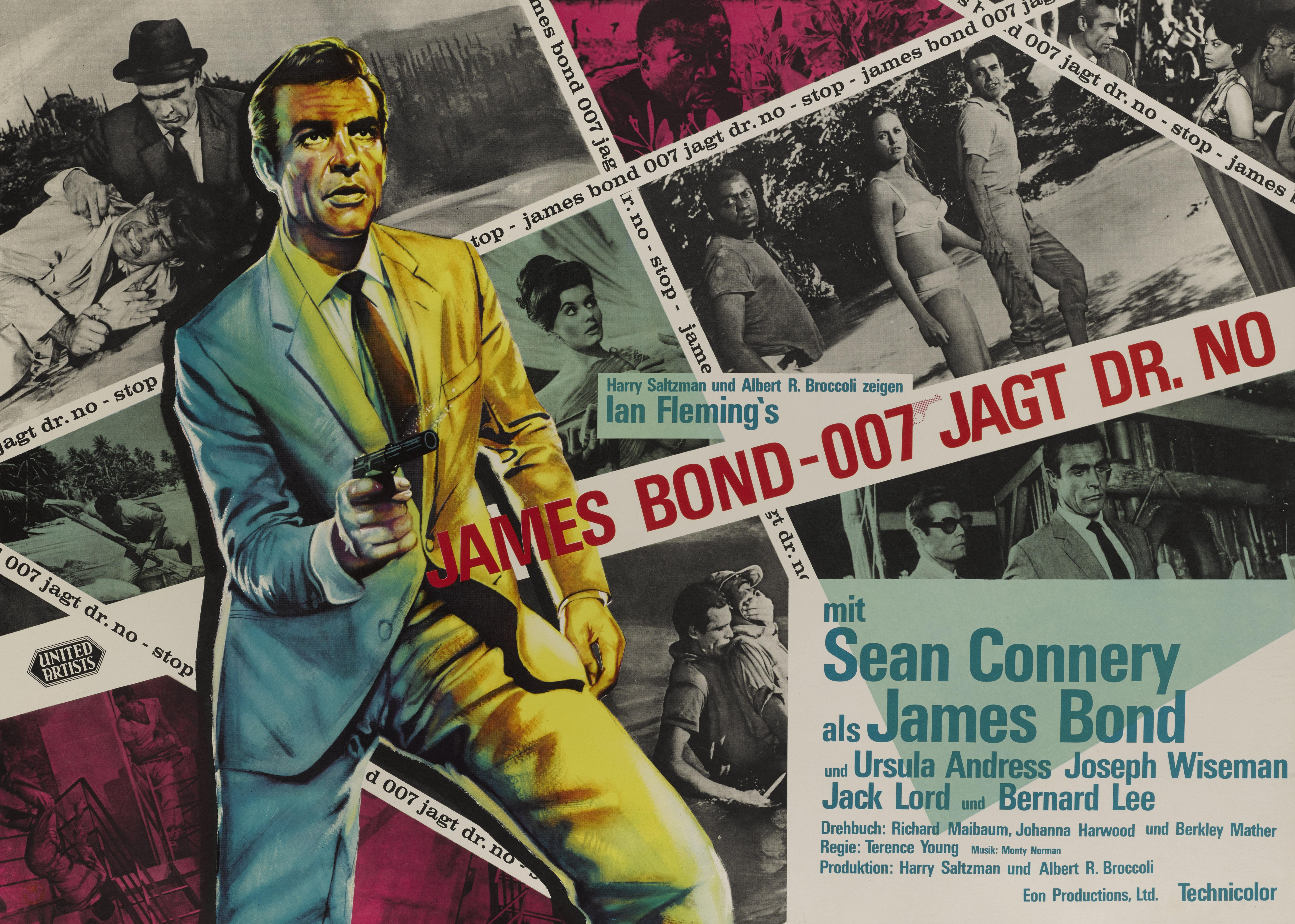 DR. NO / JAMES BOND 007 JAGT DR. NO (1962) POSTER, GERMAN