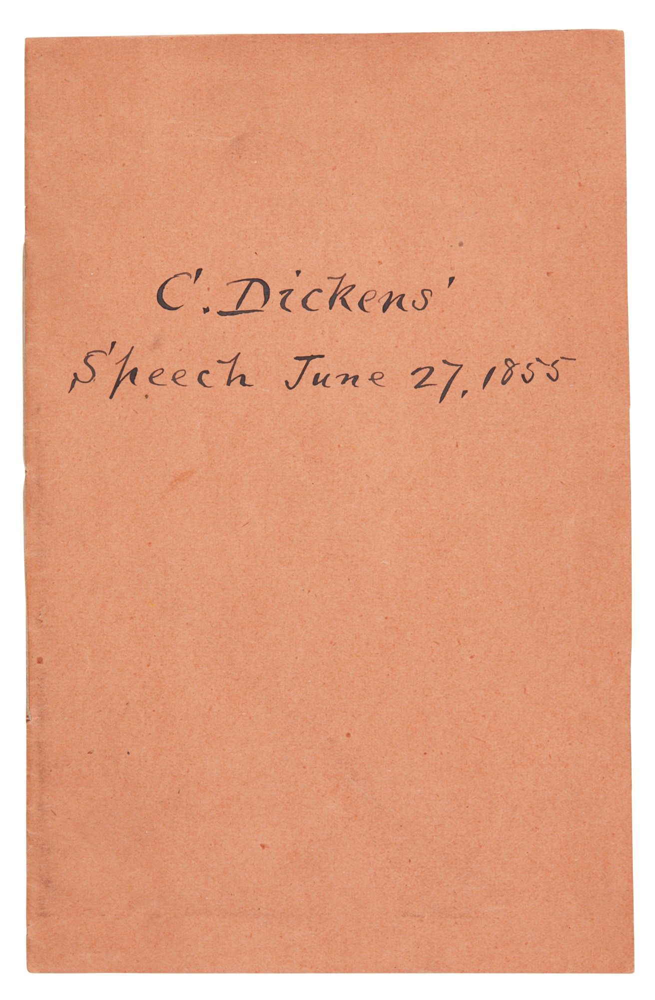 Dickens, Speech of Charles Dickens, Esq., delivered at the meeting of the Administrative Reform Association, 1855