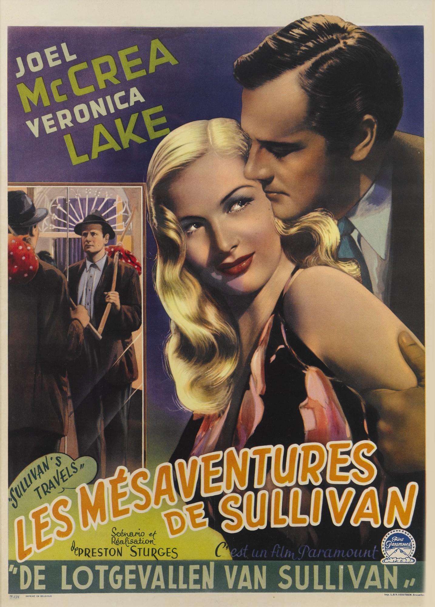 SULLIVAN'S TRAVELS/LES MESAVENTURES DE SULLIVAN (1941) POSTER, BELGIAN