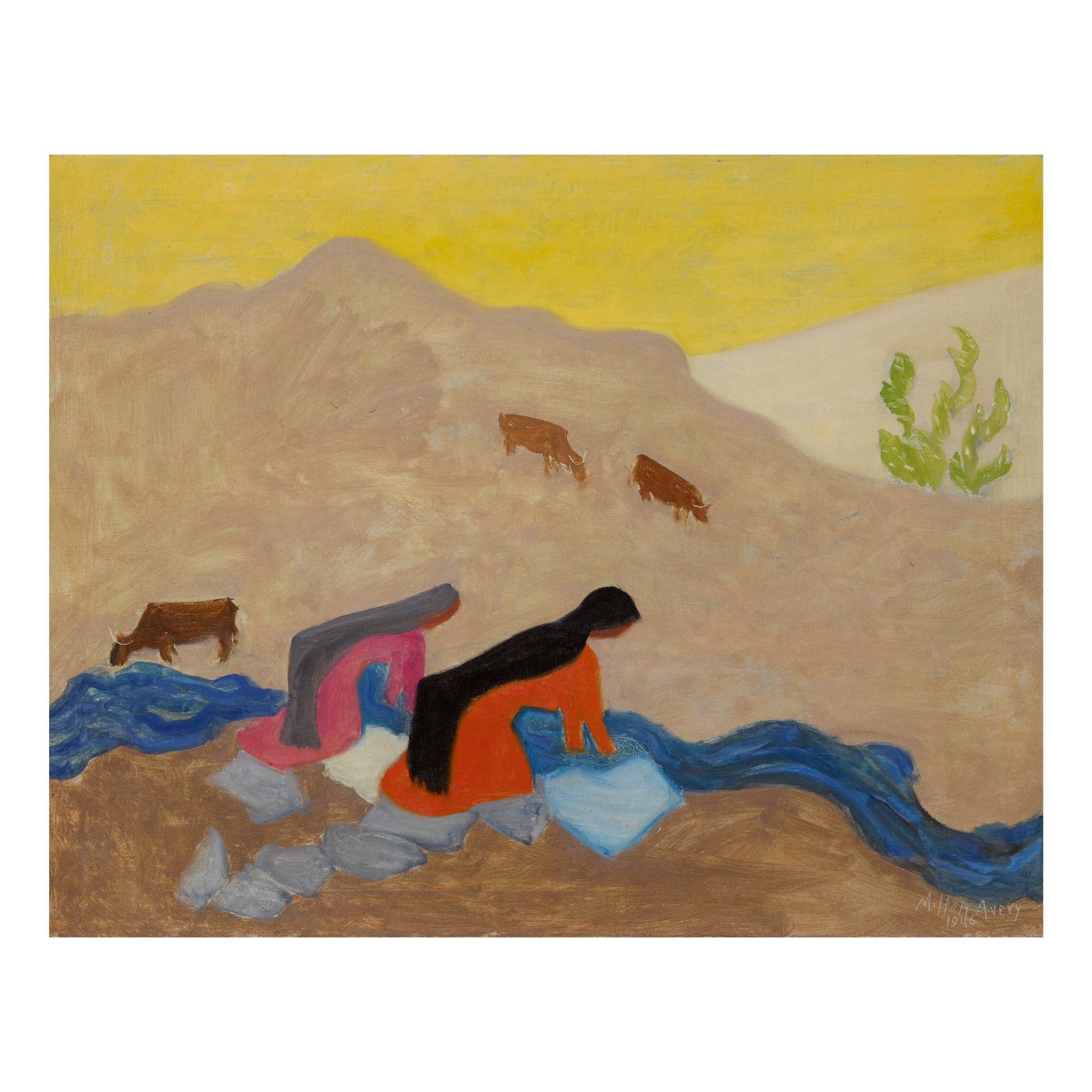 MILTON AVERY   MEXICAN WASHERWOMEN