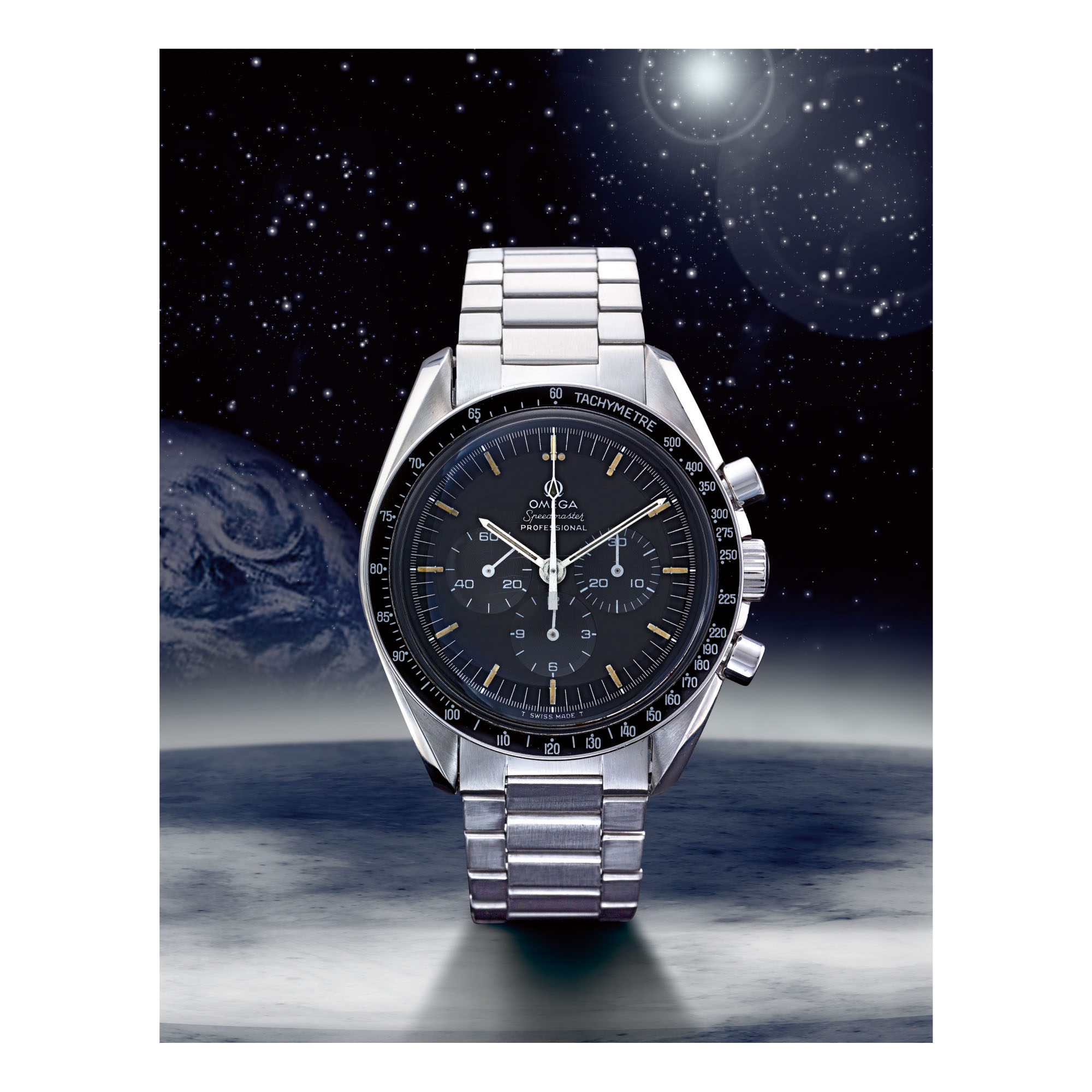 OMEGA | SPEEDMASTER REF 145.022-69 ST '220 BEZEL', A STAINLESS STEEL CHRONOGRAPH WRISTWATCH WITH BRACELET, MADE IN 1970