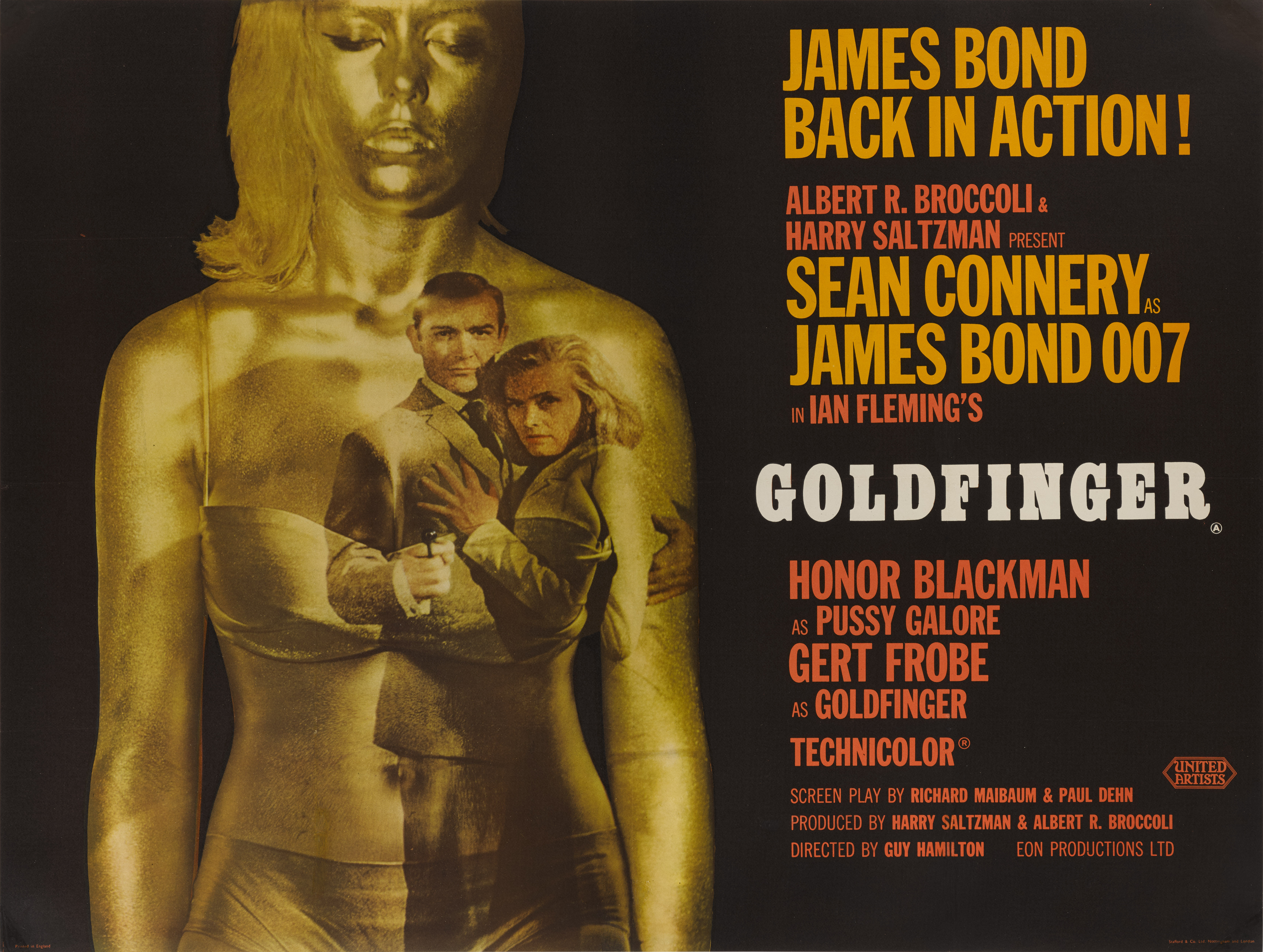 View 1 of Lot 32. GOLDFINGER (1964)  POSTER, BRITISH, STYLE A .