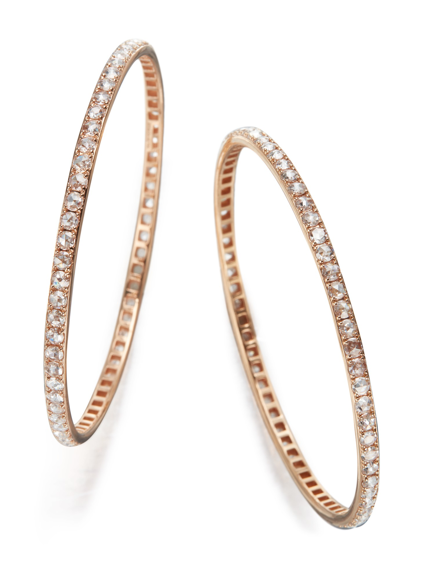 PAIR OF DIAMOND BANGLE-BRACELETS, TIFFANY & CO.
