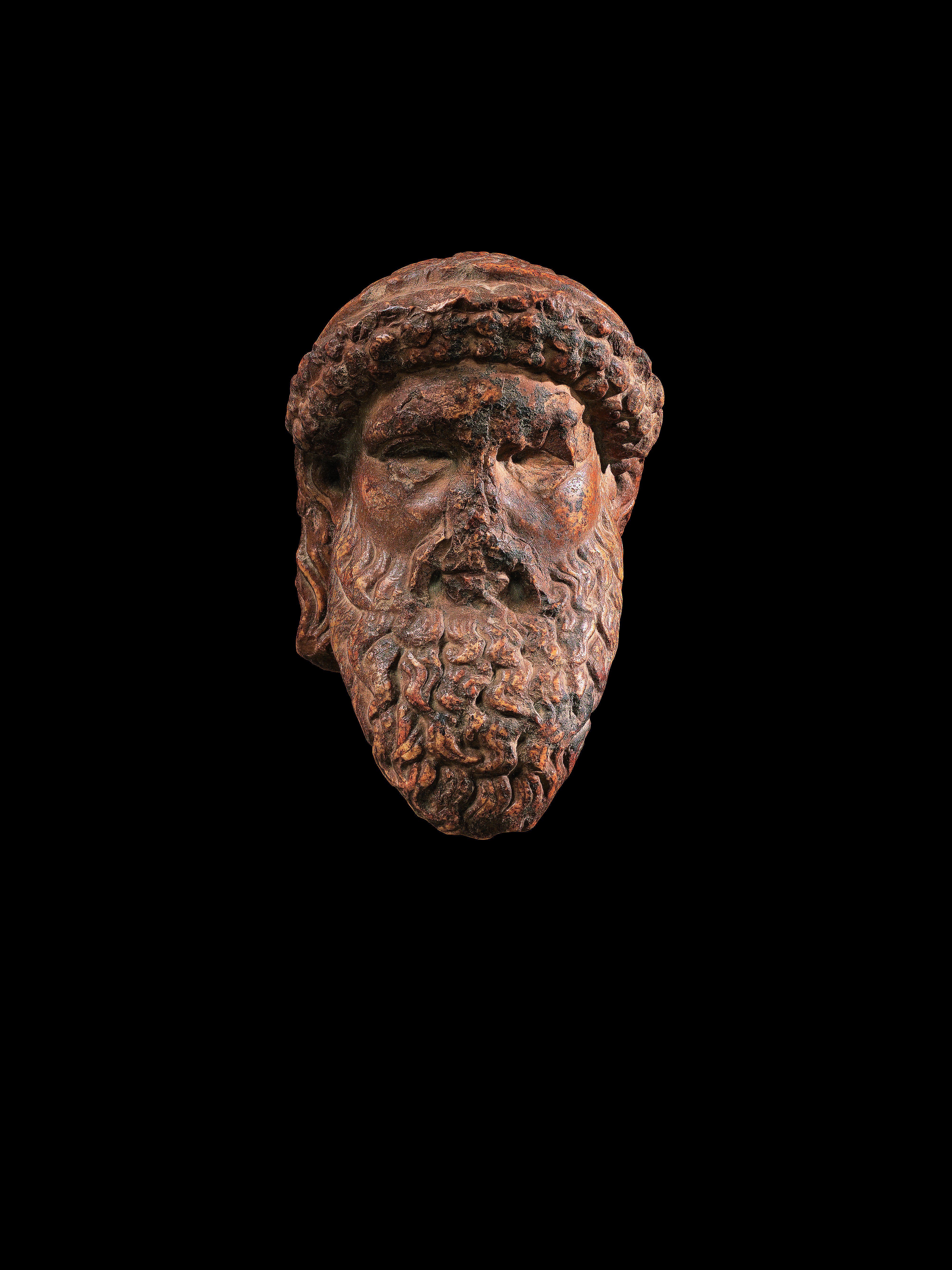 View 1 of Lot 99. A Roman Giallo Antico Marble Herm Head of Hermes, circa 1st Century A.D..