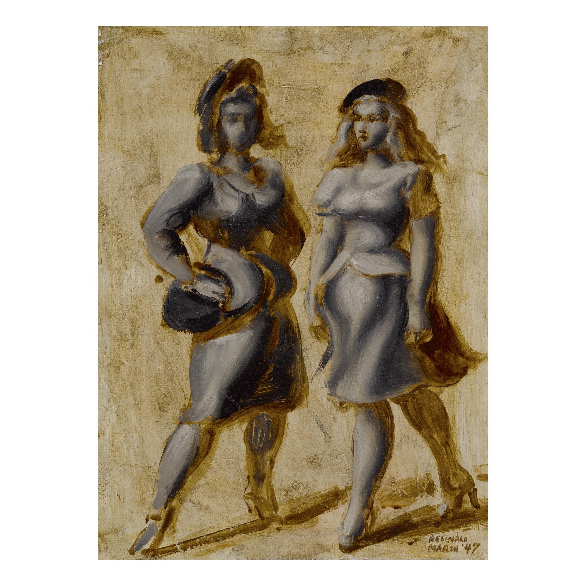 REGINALD MARSH | TWO WOMEN (STREET WALKERS)