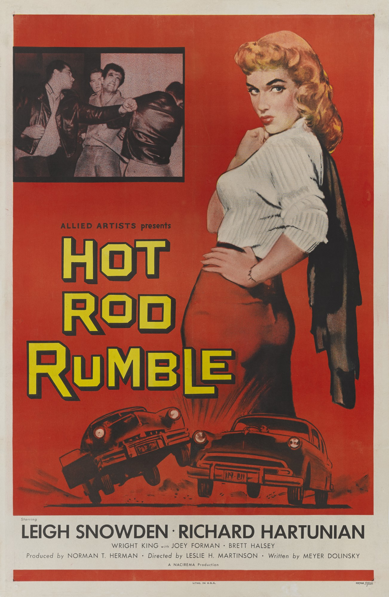 HOT ROD RUMBLE (1957) POSTER, US