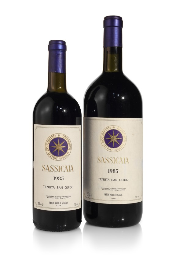 View full screen - View 1 of Lot 256. Sassicaia 1985 (7 BT).