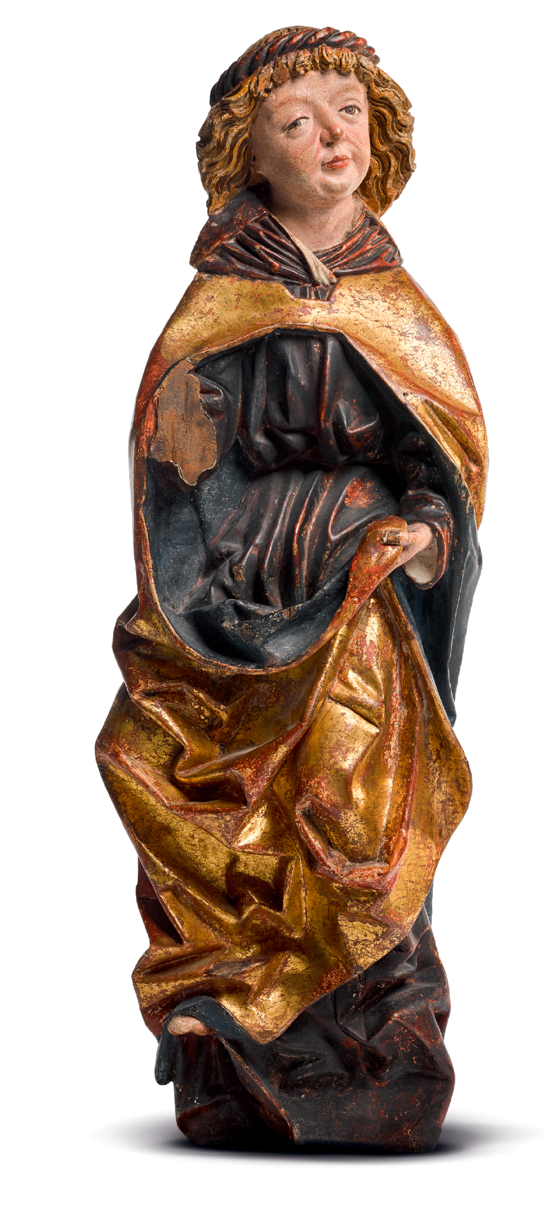 ATTRIBUTED TO THE WORKSHOP OF MICHAEL PACHER (CIRCA 1435-1498), AUSTRIAN, TYROL, LATE 15TH CENTURY   RELIEF OF A MALE SAINT, POSSIBLY SAINT JOHN