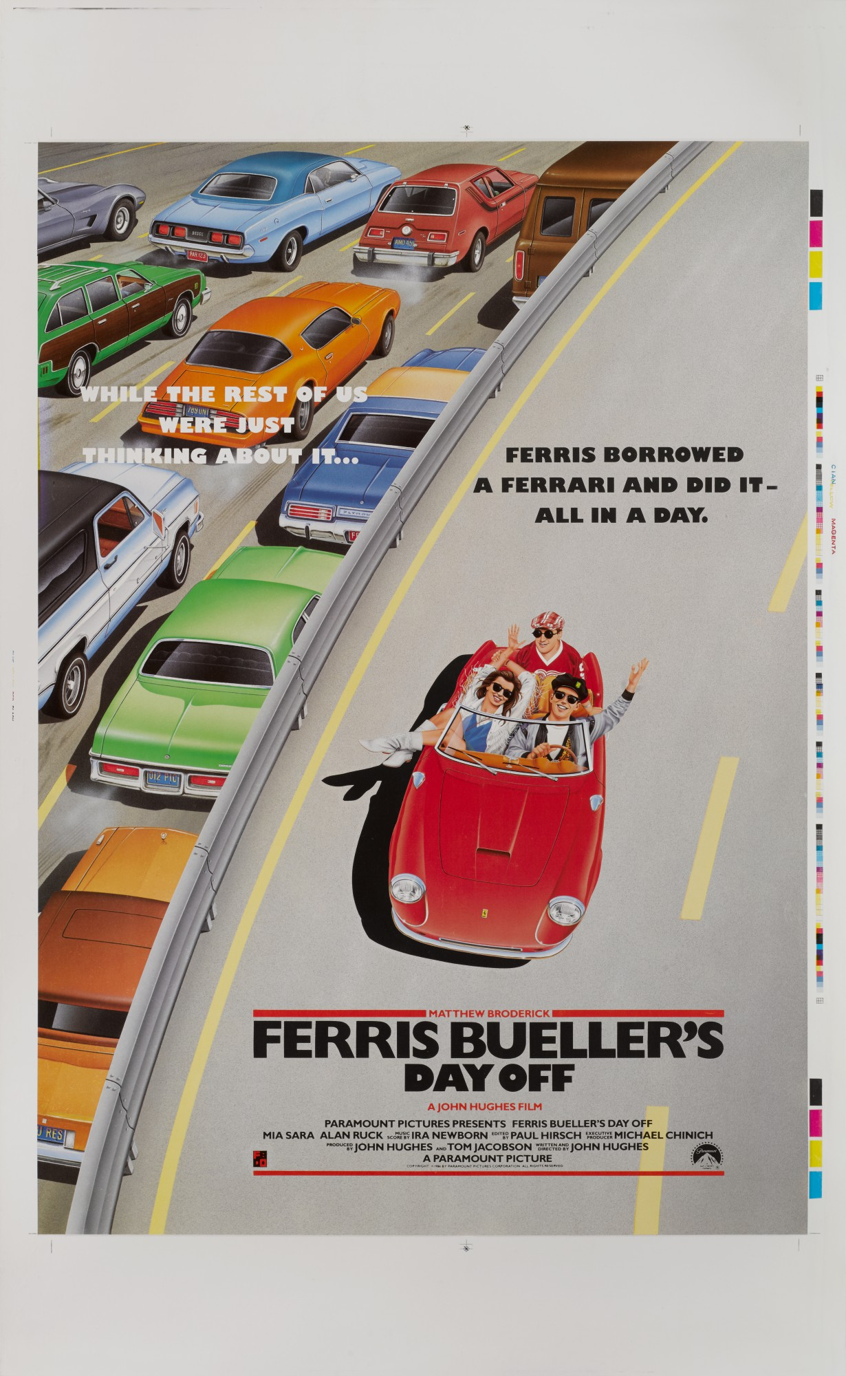 FERRIS BUELLER'S DAY OFF (1986) PRINTER'S PROOF, US