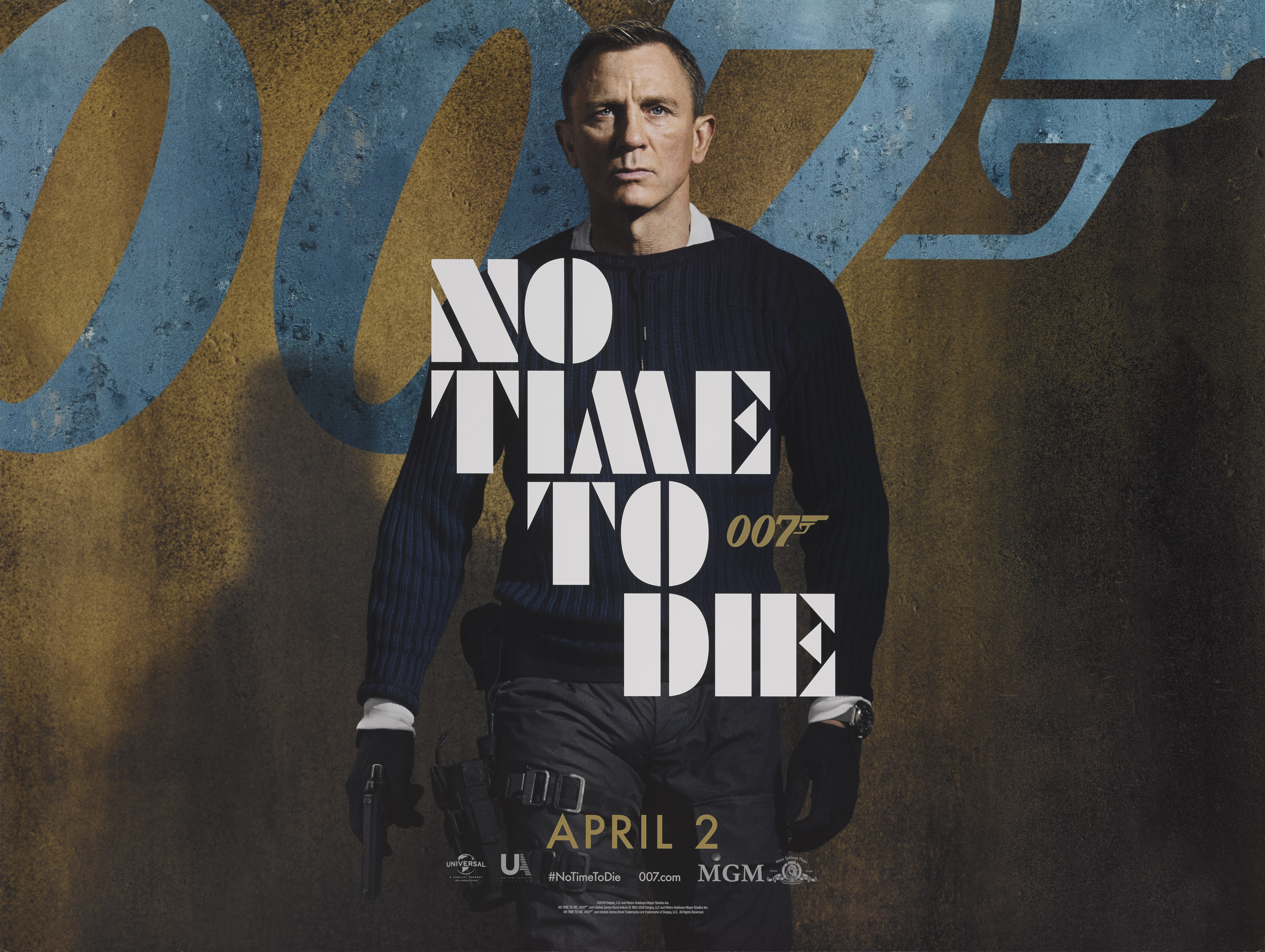 NO TIME TO DIE (2021) POSTER, BRITISH, ADVANCE, DOUBLE-SIDED