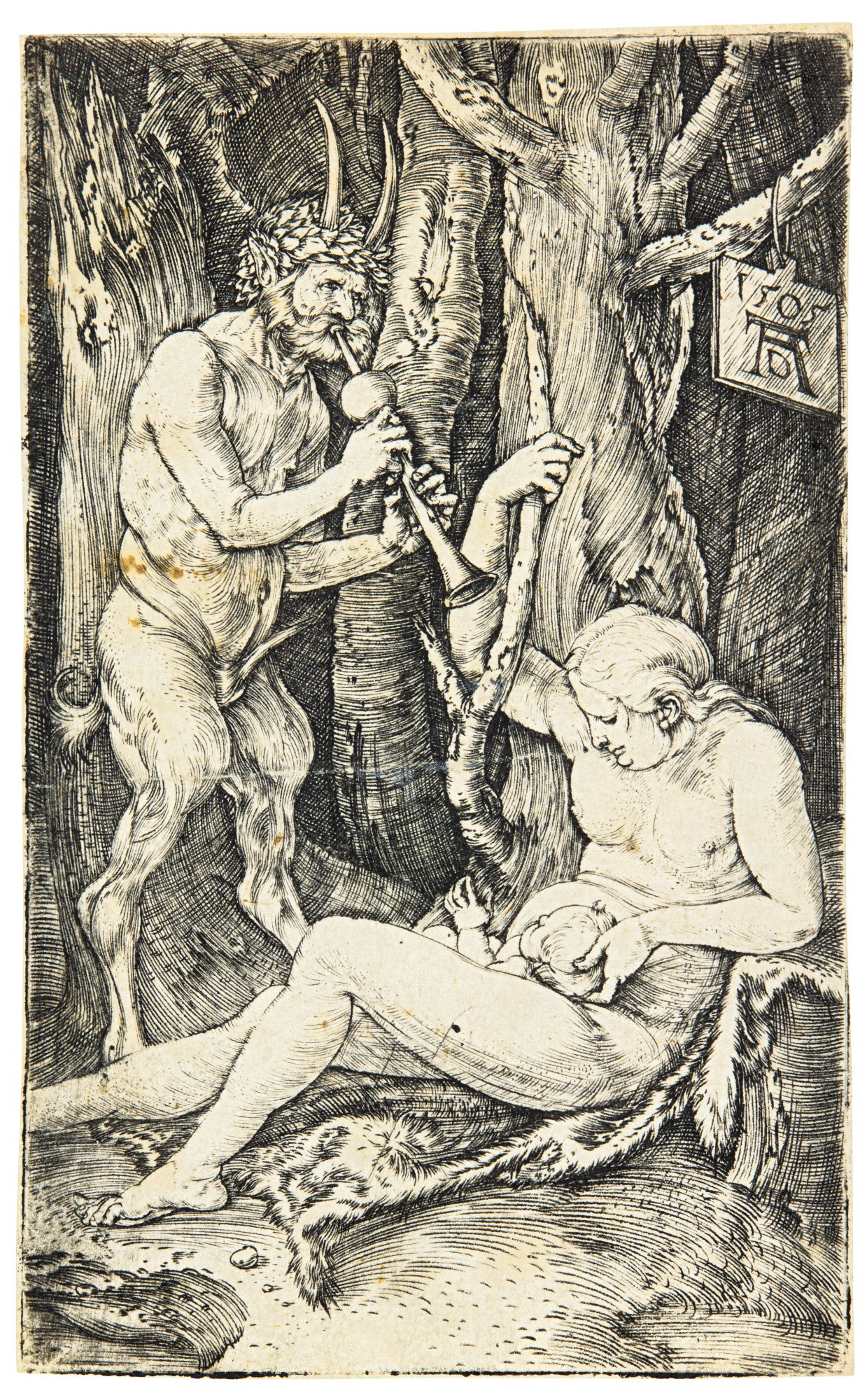 ALBRECHT DÜRER   THE SATYR'S FAMILY; ST. PHILIP; AND FIVE SOLDIERS AND A TURK ON HORSEBACK (B. 69, 46, 88; M., HOLL. 65, 48, 81)