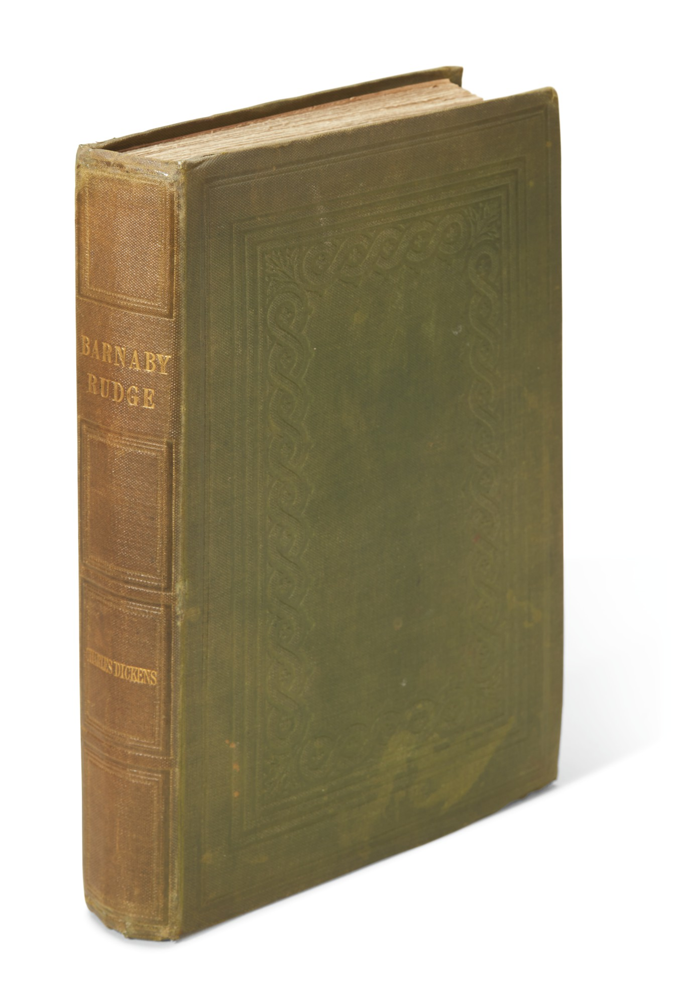 Dickens, Barnaby Rudge, 1841, first separate edition, bound from the weekly parts, binding variant