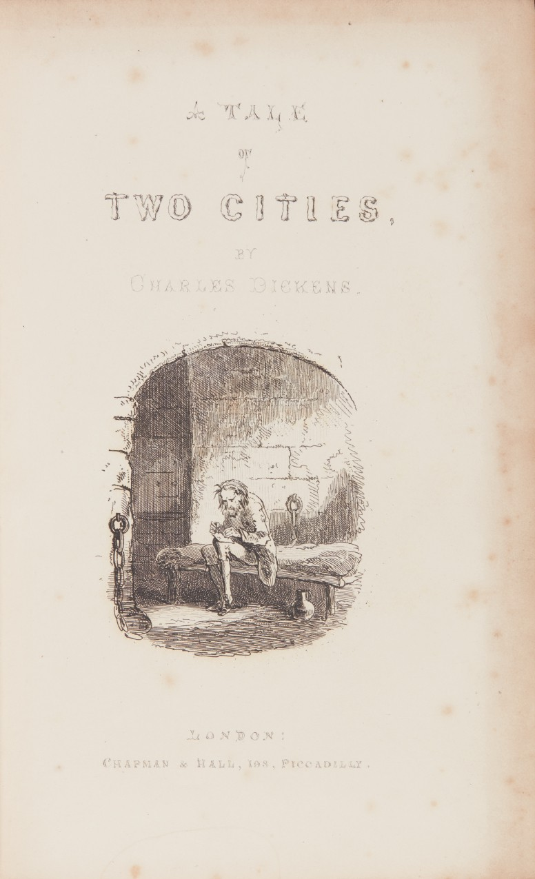 Dickens, A Tale of Two Cities, 1859, first book edition