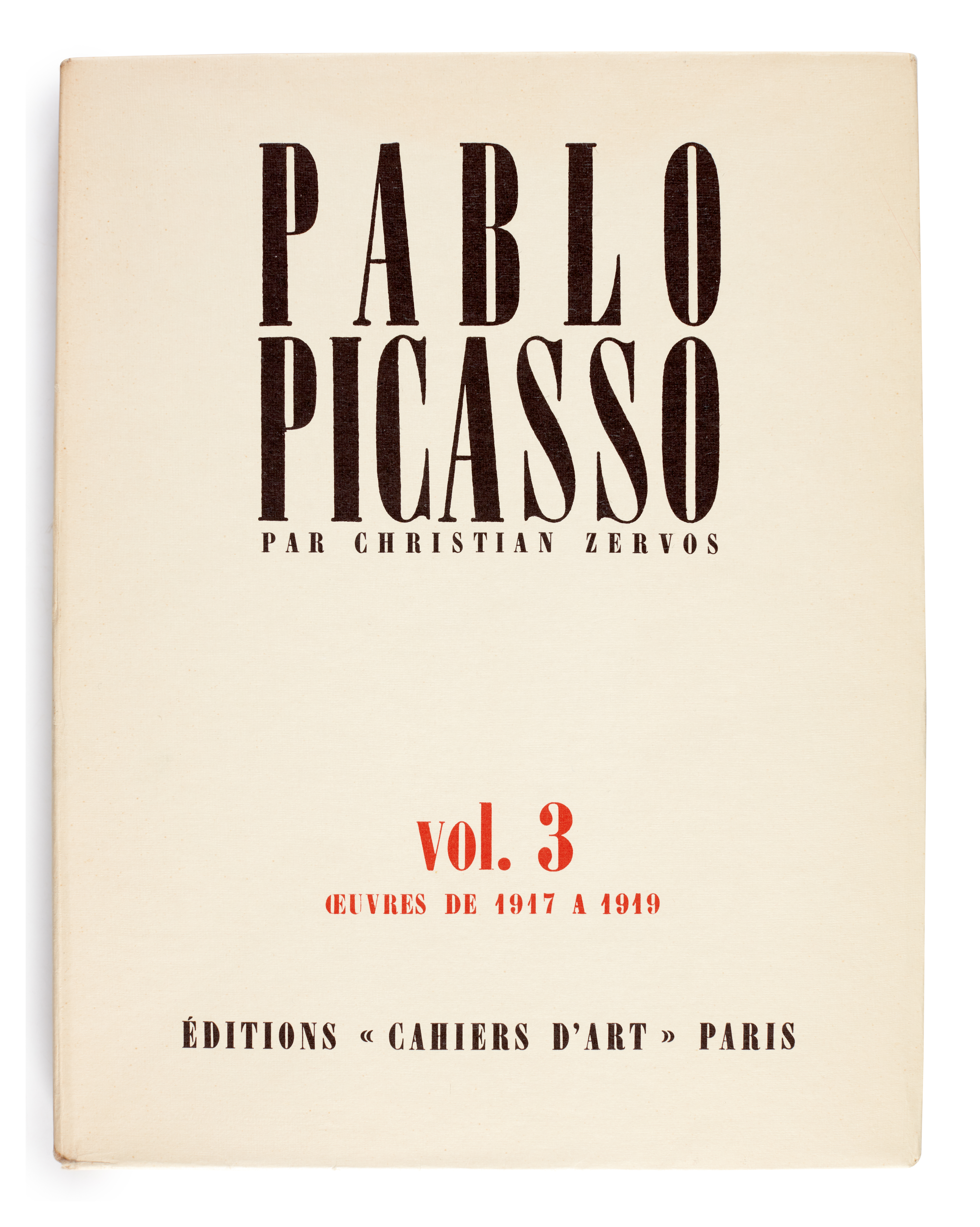 View full screen - View 1 of Lot 167. Zervos, Pablo Picasso, Oeuvres, Paris, 1949-1986, 34 volumes, original wrappers.