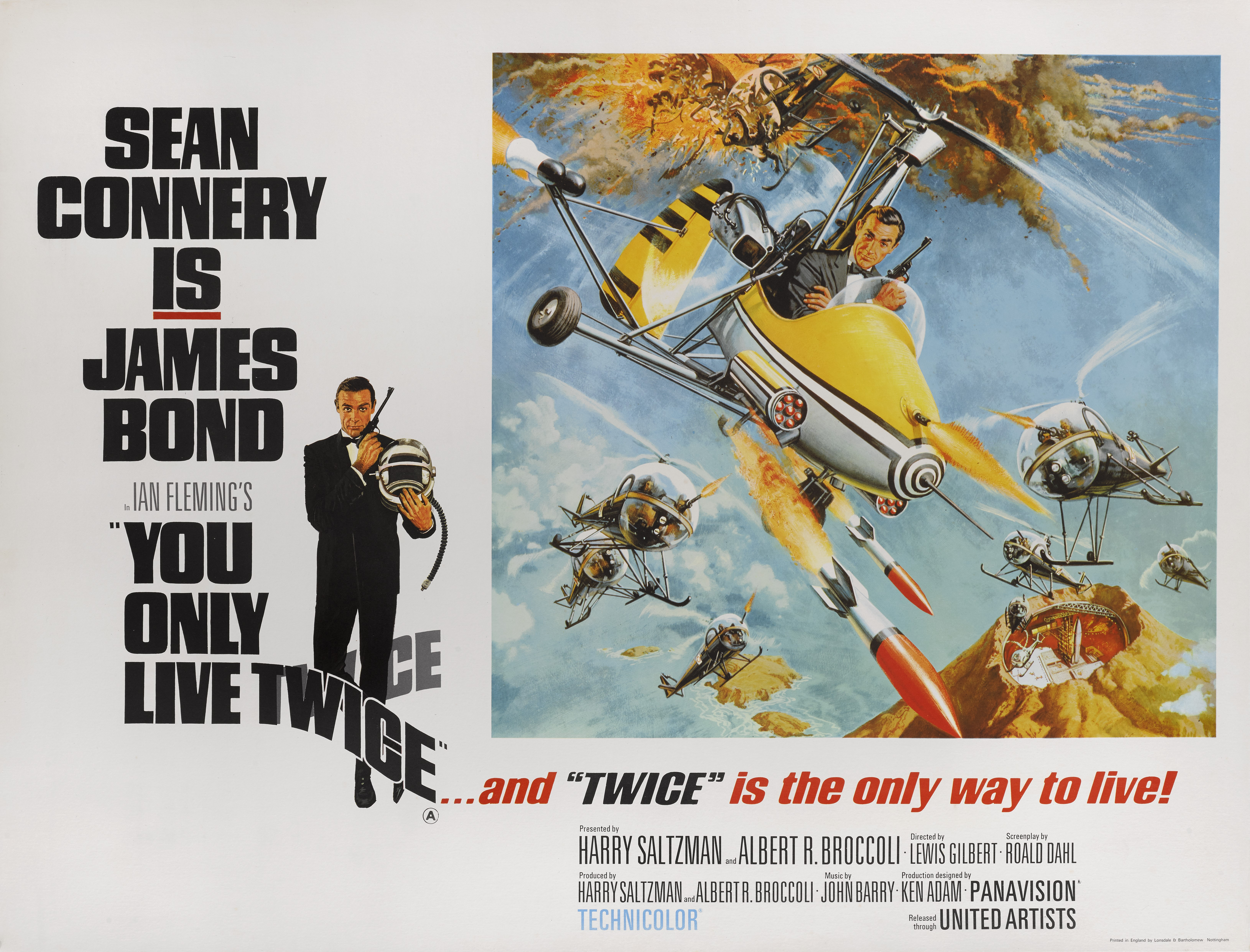 View full screen - View 1 of Lot 67. YOU ONLY LIVE TWICE (1967) POSTER, BRITISH, STYLE B (LITTLE NELLY).