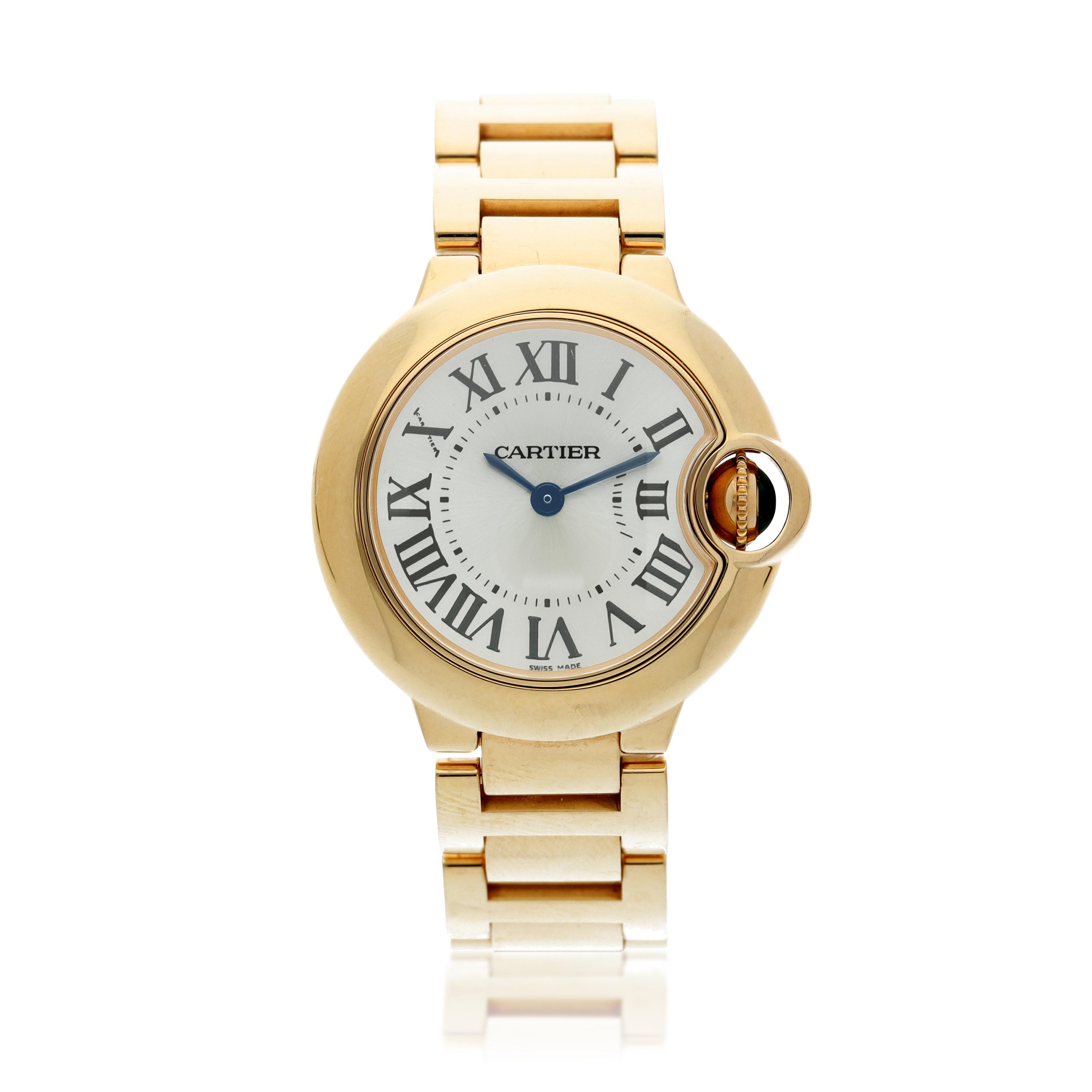 View full screen - View 1 of Lot 20. Reference 3007 Ballon Bleu A pink gold wristwatch with bracelet, Circa 2015 .
