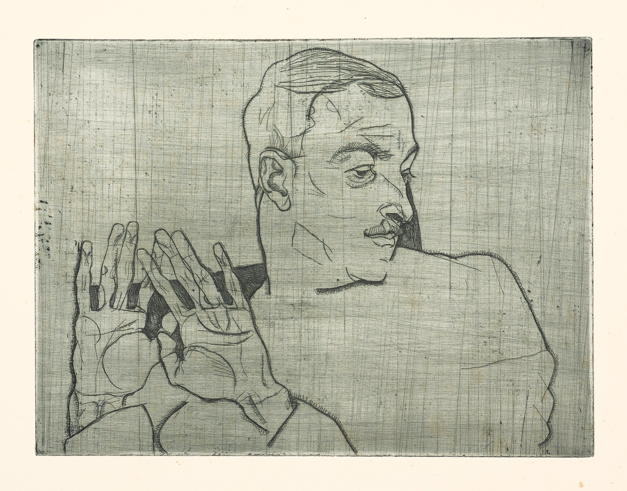 EGON SCHIELE   BILDNIS ARTHUR ROESSLER (K. 8)
