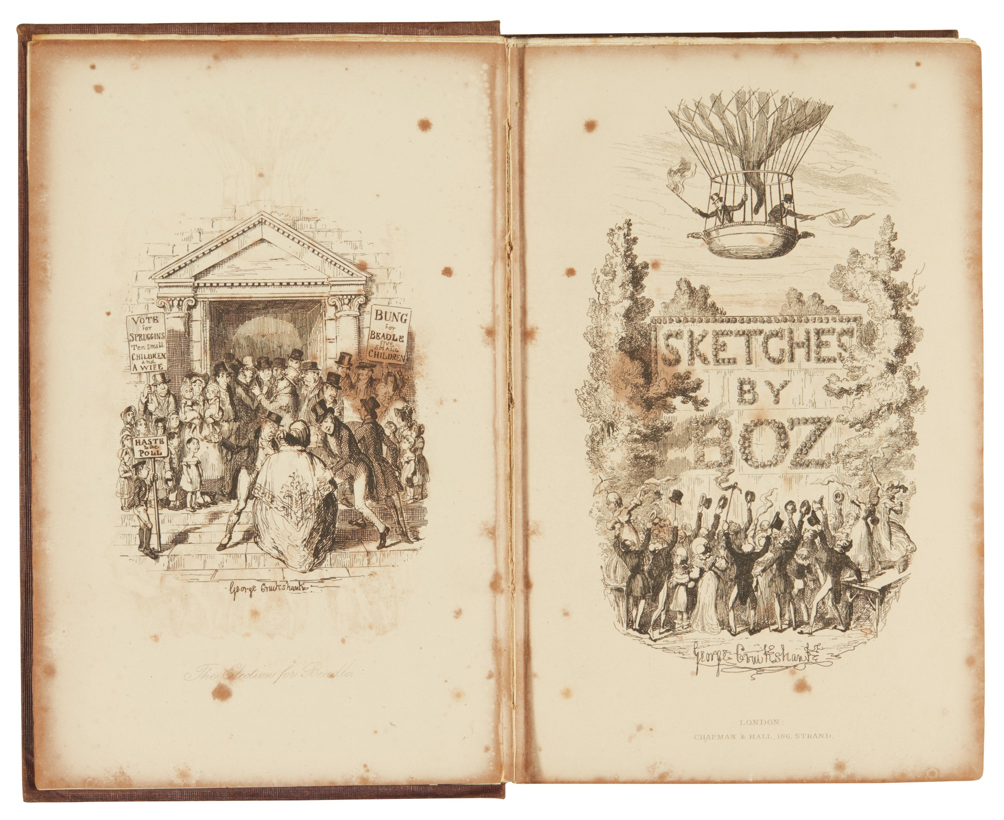 Dickens, Sketches by Boz, 1839, first one volume edition