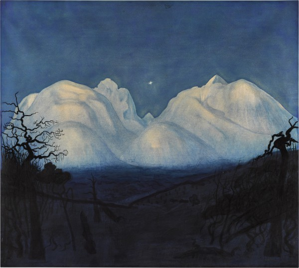 View full screen - View 1 of Lot 11. Winter Night in the Mountains.