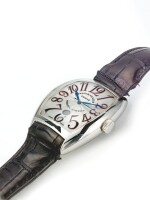FRANCK MULLER | REF 8880 SC DT AMERICA-AMERICA, A LARGE LIMITED EDITION STAINLESS STEEL TONNEAU AUTOMATIC CENTER SECONDS WRISTWATCH WITH DATE CIRCA 2008
