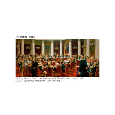View 5. Thumbnail of Lot 54. BORIS MIKHAILOVICH KUSTODIEV   Portrait of Count Alexei Pavlovich Ignatiev.