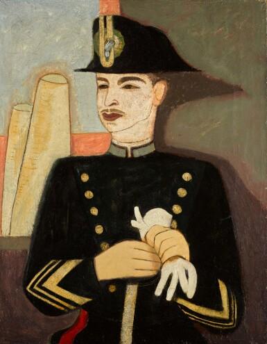 View 1. Thumbnail of Lot 16. FELIX NUSSBAUM | BILDNIS EINES KARABINIERE (PORTRAIT OF A CARABINIERE)             .