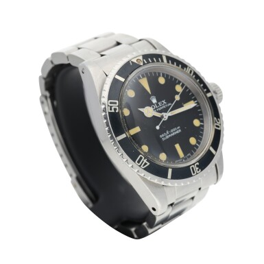 View 2. Thumbnail of Lot 286. REFERENCE 5513 SUBMARINER A STAINLESS STEEL AUTOMATIC WRISTWATCH WITH BRACELET, CIRCA 1977.