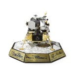APOLLO LUNAR MODULE MODEL, PRODUCED BY THE FRANKLIN MINT, SIGNED BY SIX MOON WALKERS