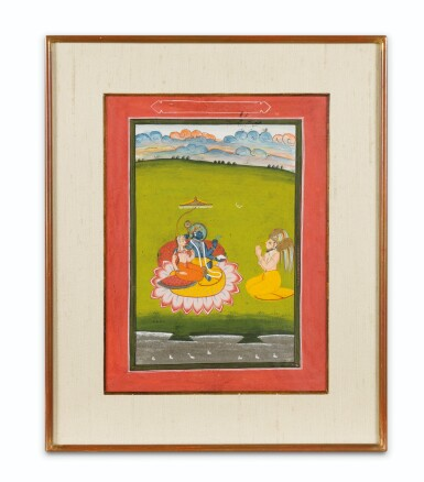 View 10. Thumbnail of Lot 39. RAJASTHAN AND NORTHERN INDIA, LATE 18TH CENTURY - EARLY 19TH CENTURY | SIX INDIAN MINIATURES .